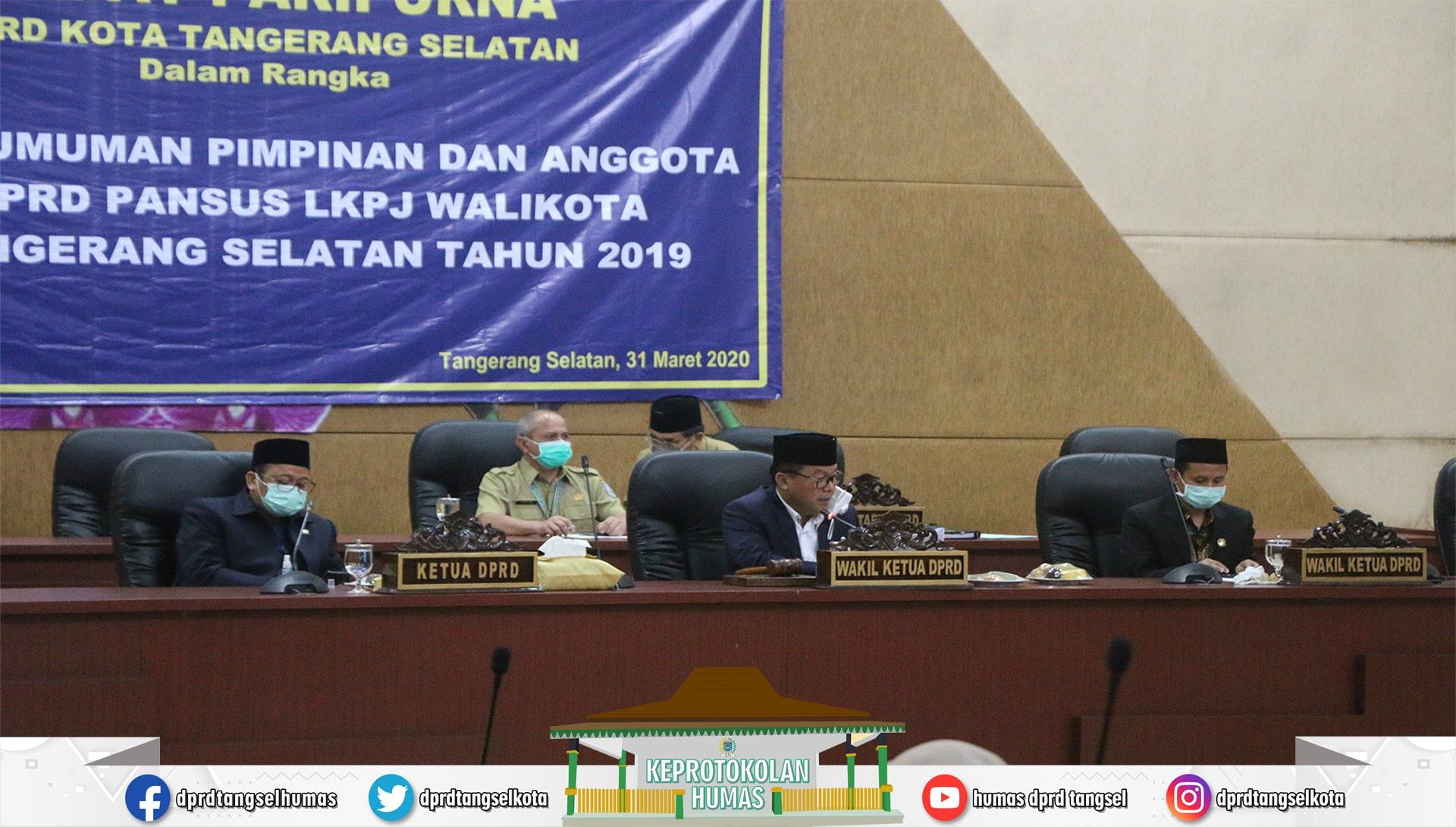 Rapat Paripurna Pengumuman Pimpinan dan Anggota DPRD Pansus LKPJ