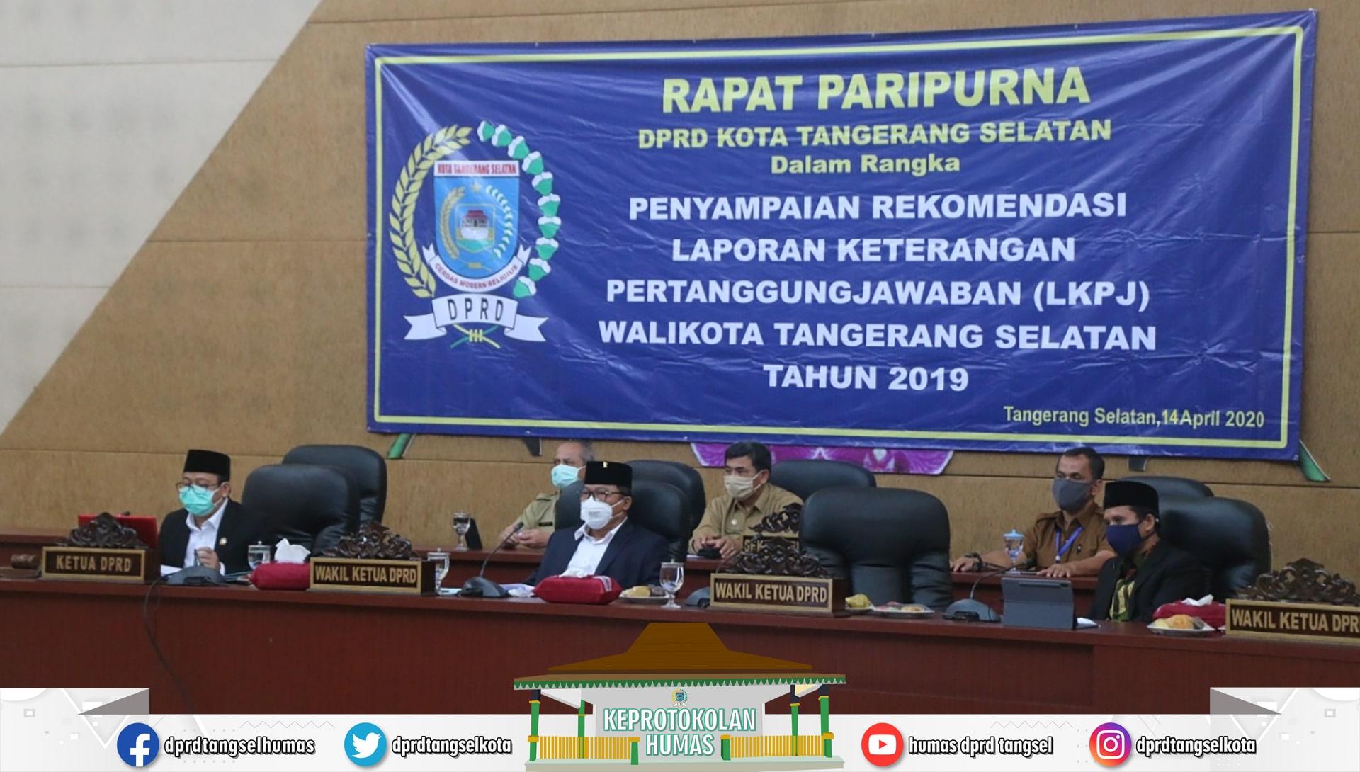 DPRD Gelar Video Conference Paripurna Rekomendasi LKPJ Walikota 2019