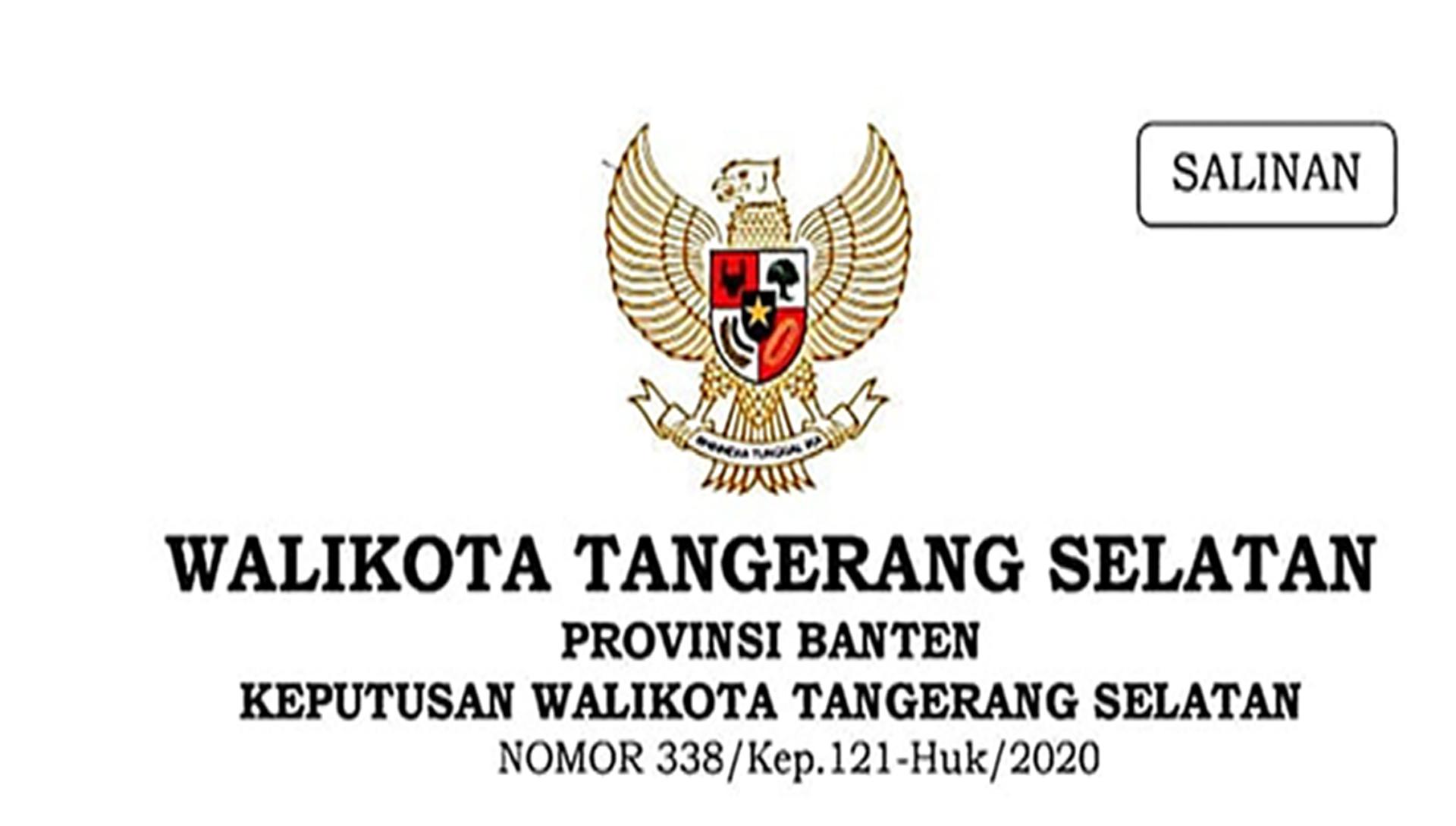 Perwal Nomor 338/Kep.121-Huk/2020