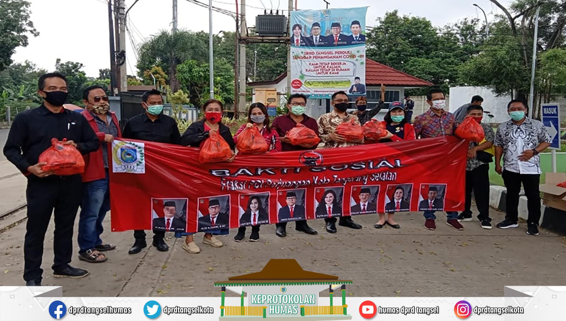 Seluruh Anggota Fraksi PDIP DPRD Tangsel Sumbangkan Gaji 1 Tahun