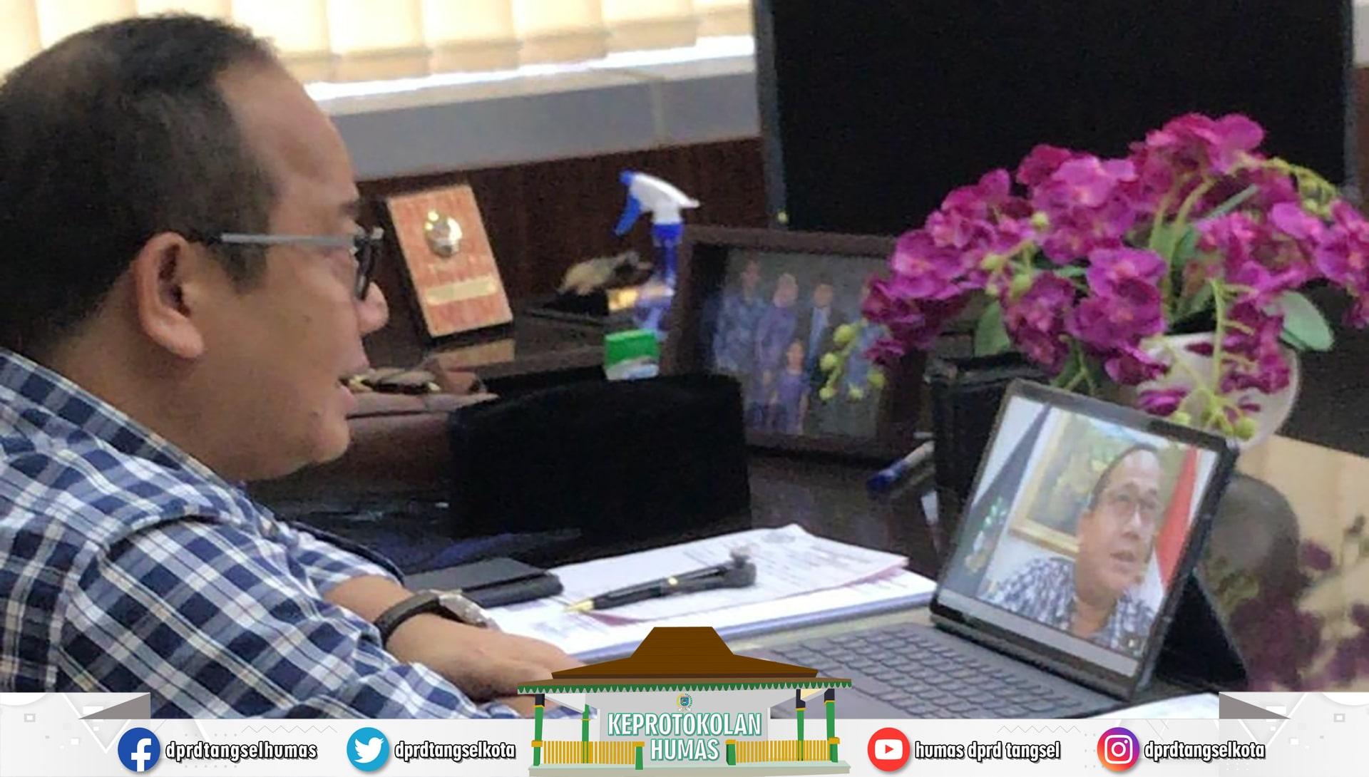 """Ketua DPRD mengikuti """"Ngabuburit Online"""" yang digelar ITB Ahmad Dalan"""