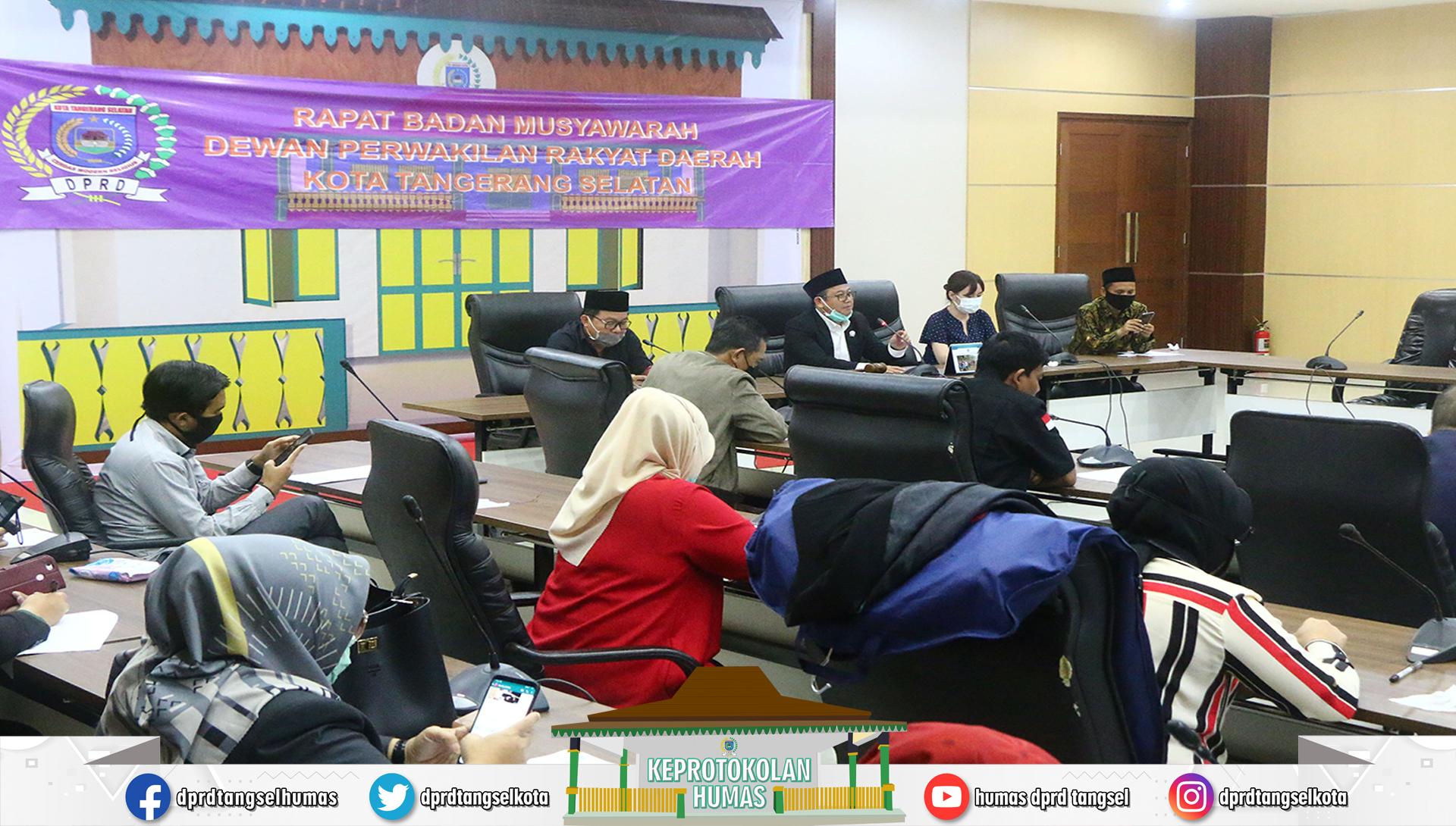 Rapat Banmus mengenai Penjadwalan Kegiatan Alat Kelengkapan Dewan