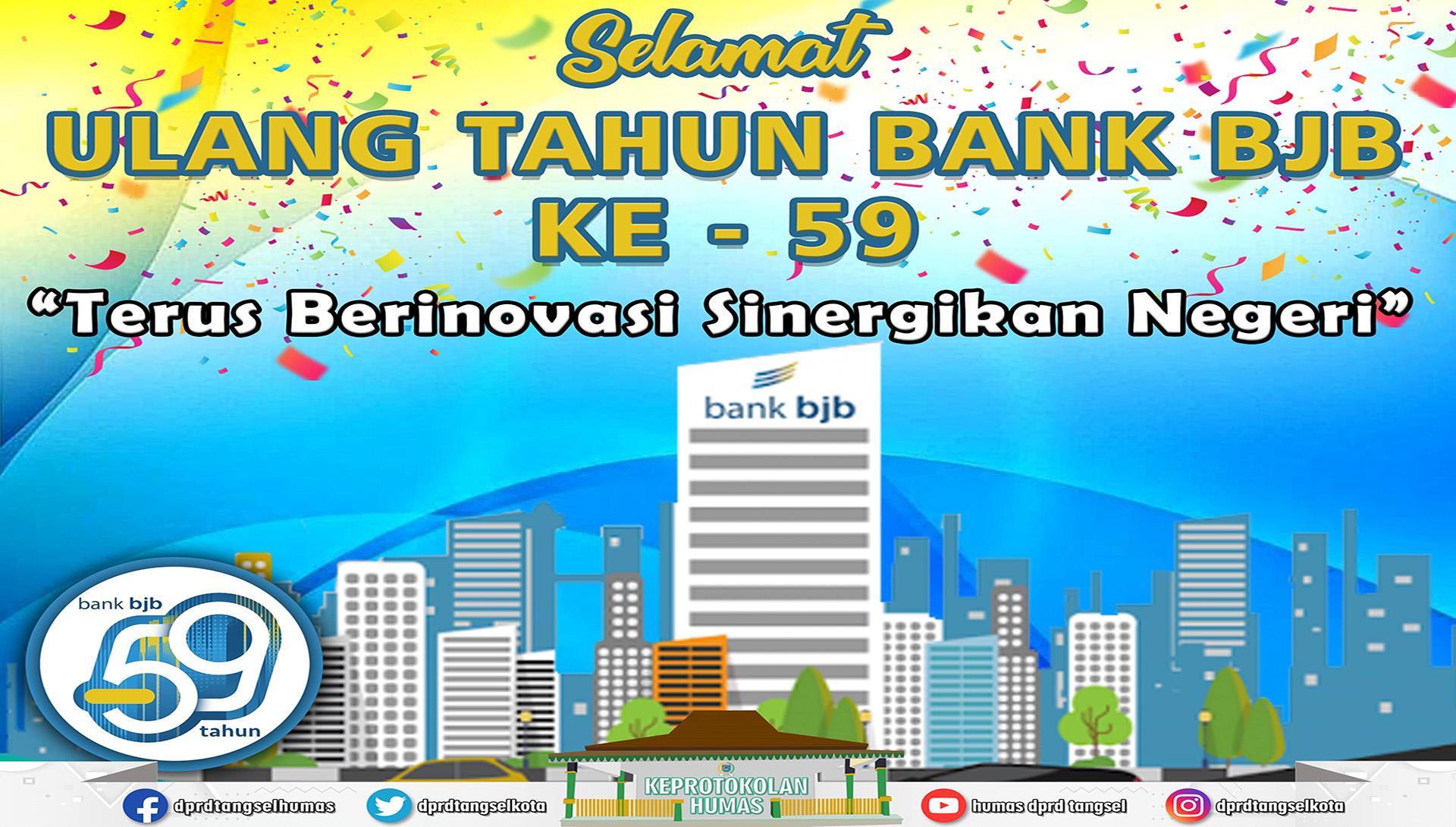 Selamat Ulang Tahun Bank BJB ke - 59