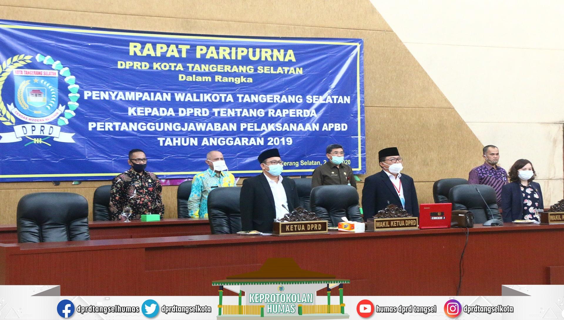 Paripurna Penyampaian Walikota kapada DPRD ttg Raperda APBD TA 2019