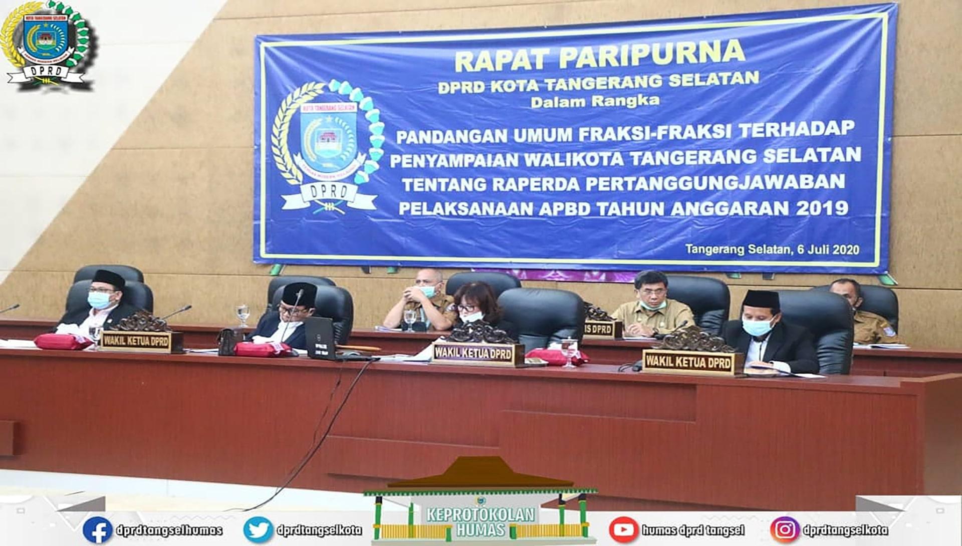 Paripurna Pandangan Umum Fraksi-Fraksi ttg Raperda APBD TA 2019
