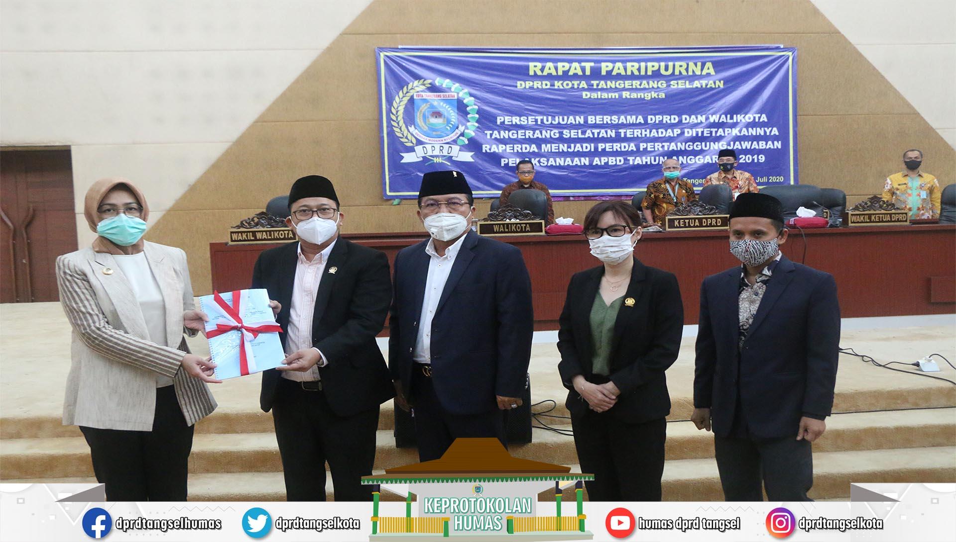 Persetujuan Bersama DPRD dan Walikota Pertanggungjawaban APBD TA 2019