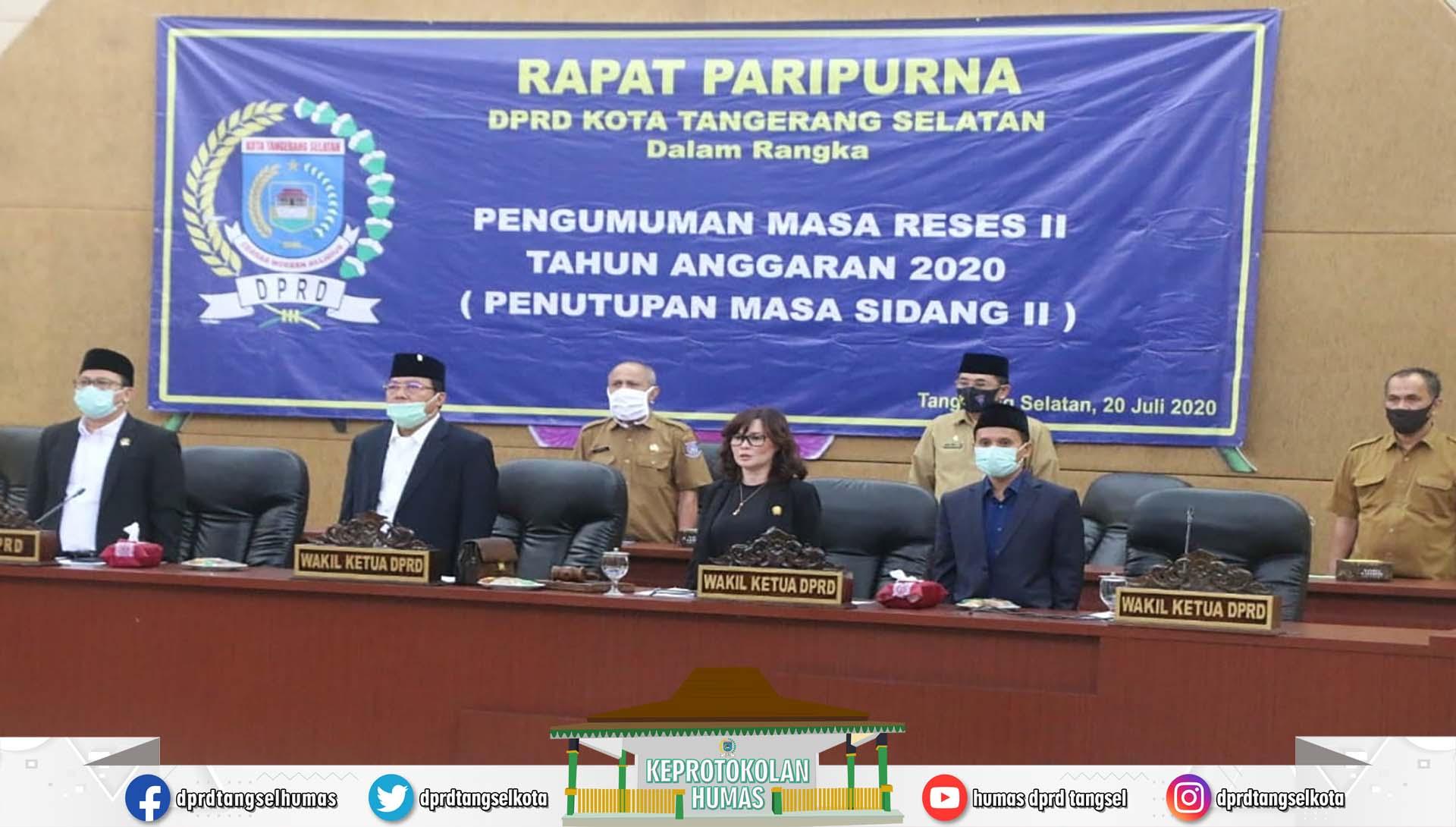 Rapat Paripurna Dengan Agenda Pengumuman Masa Reses II TA 2020