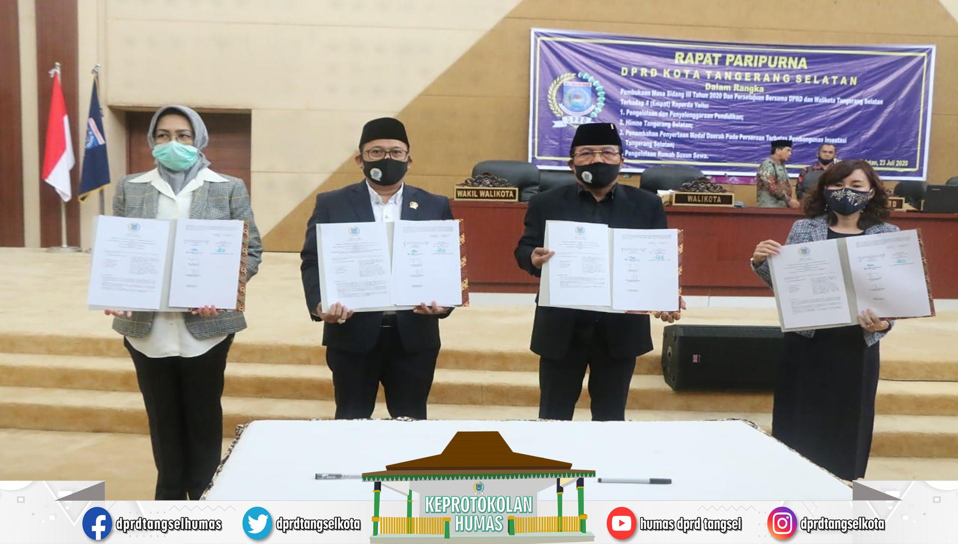 Rapat Paripurna Pembukaan Masa Sidang III dan Persetujuan Bersama DPRD