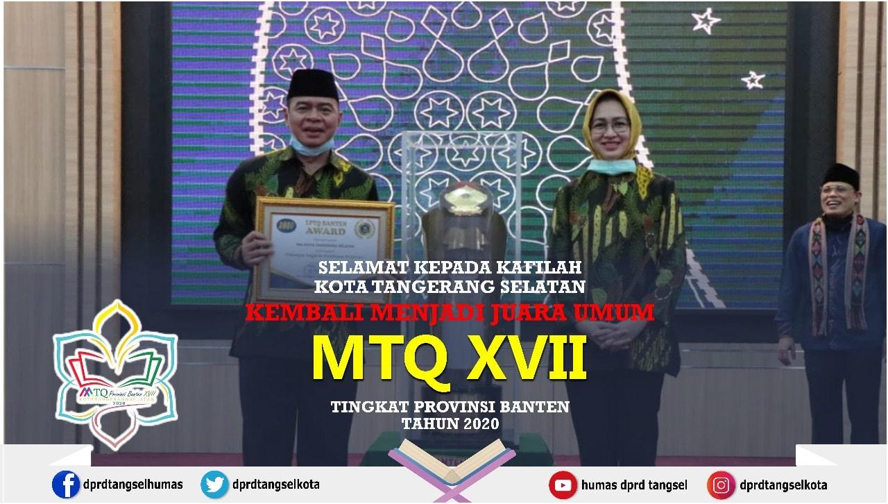Kota Tangerang Selatan Juara Umum MTQ ke VIII TIngkat Provinsi Banten