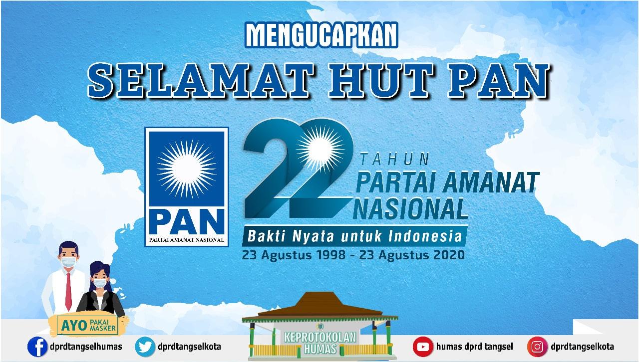 Selamat Hari Ulang Tahun Partai Amanat Nasional Ke-22 Tahun