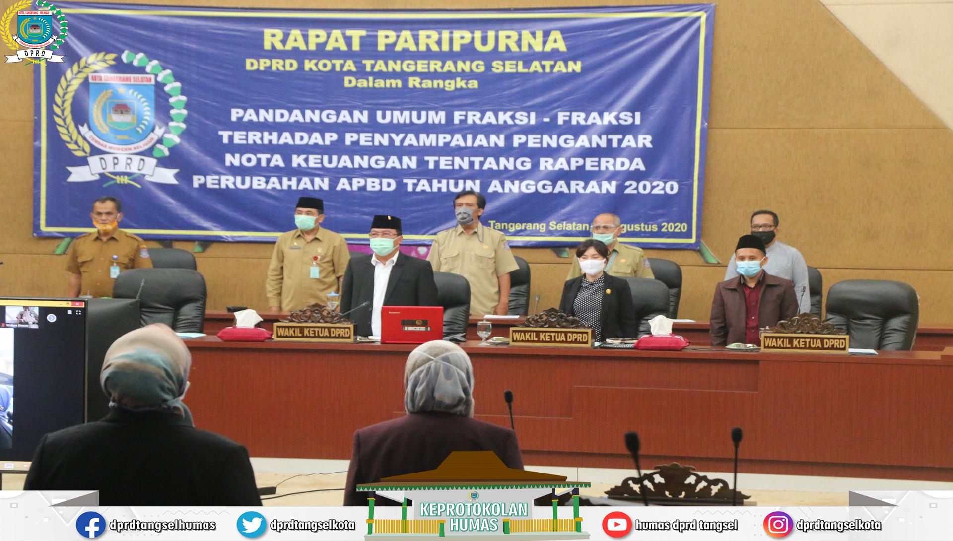 Pandum Fraksi thd Penyampaian Nota Keuangan Raperda Perubahan APBD