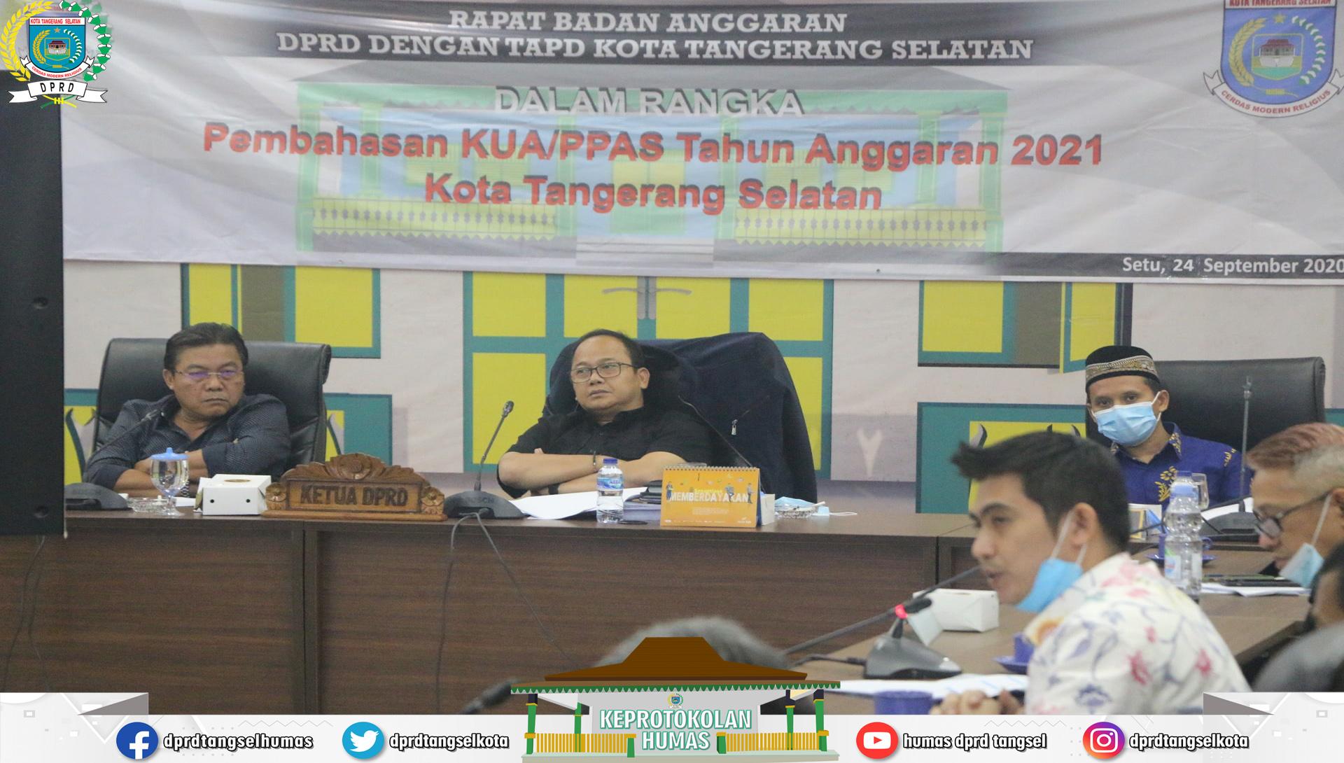 Rapat Badan Anggaran dengan TAPD Pembahasan KUA/PPAS T.A 2021