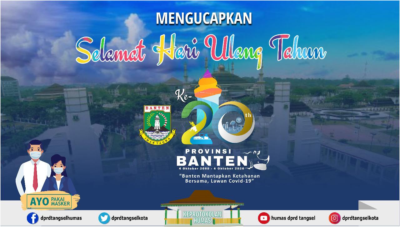 Dirgahayu Provinsi Banten yang ke-20