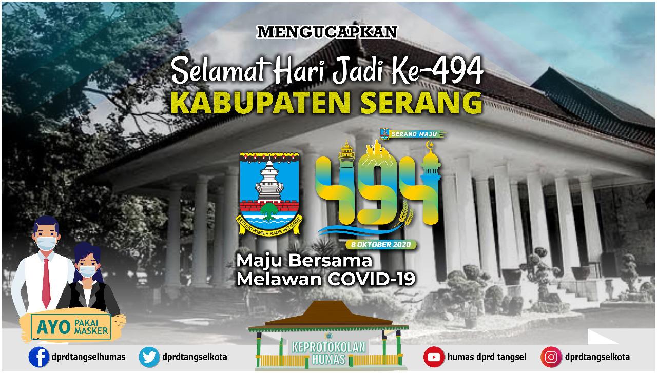 Selamat Hari Jadi ke- 494 Kabupaten Serang