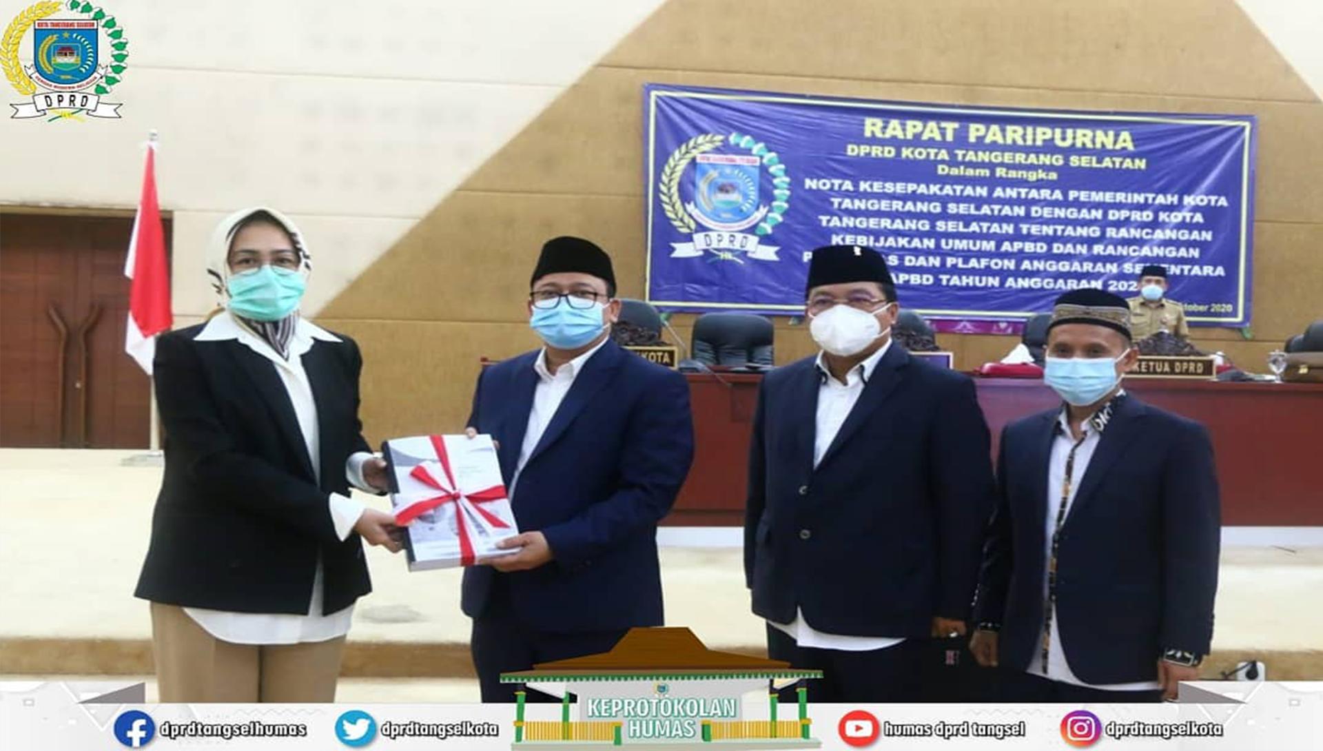 Rapat Paripurna Nota Kesepakatan antara Pemkot dengan DPRD