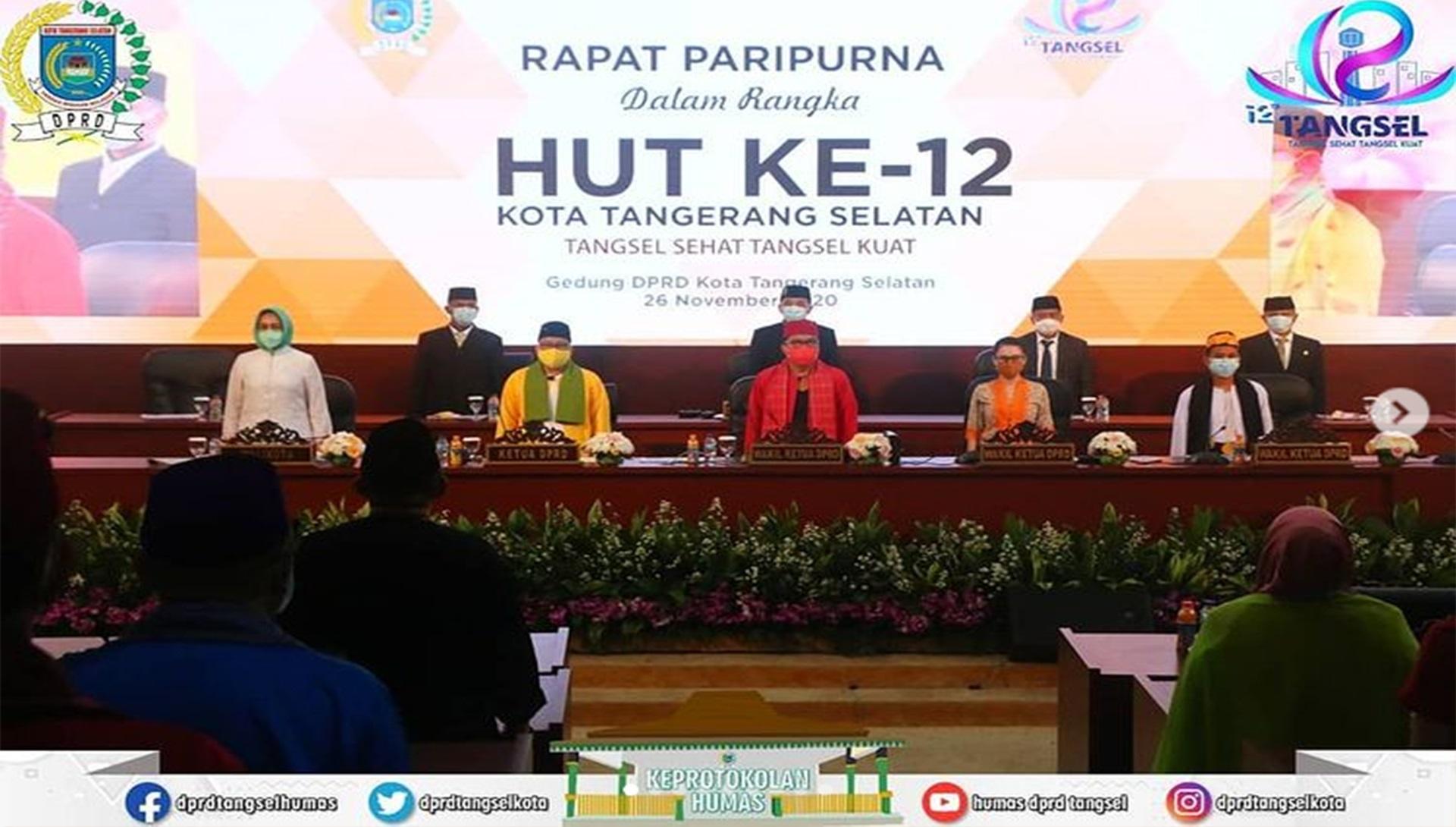 Sidang Paripurna Memperingati Hari jadi ke-12 Kota Tangerang Selatan