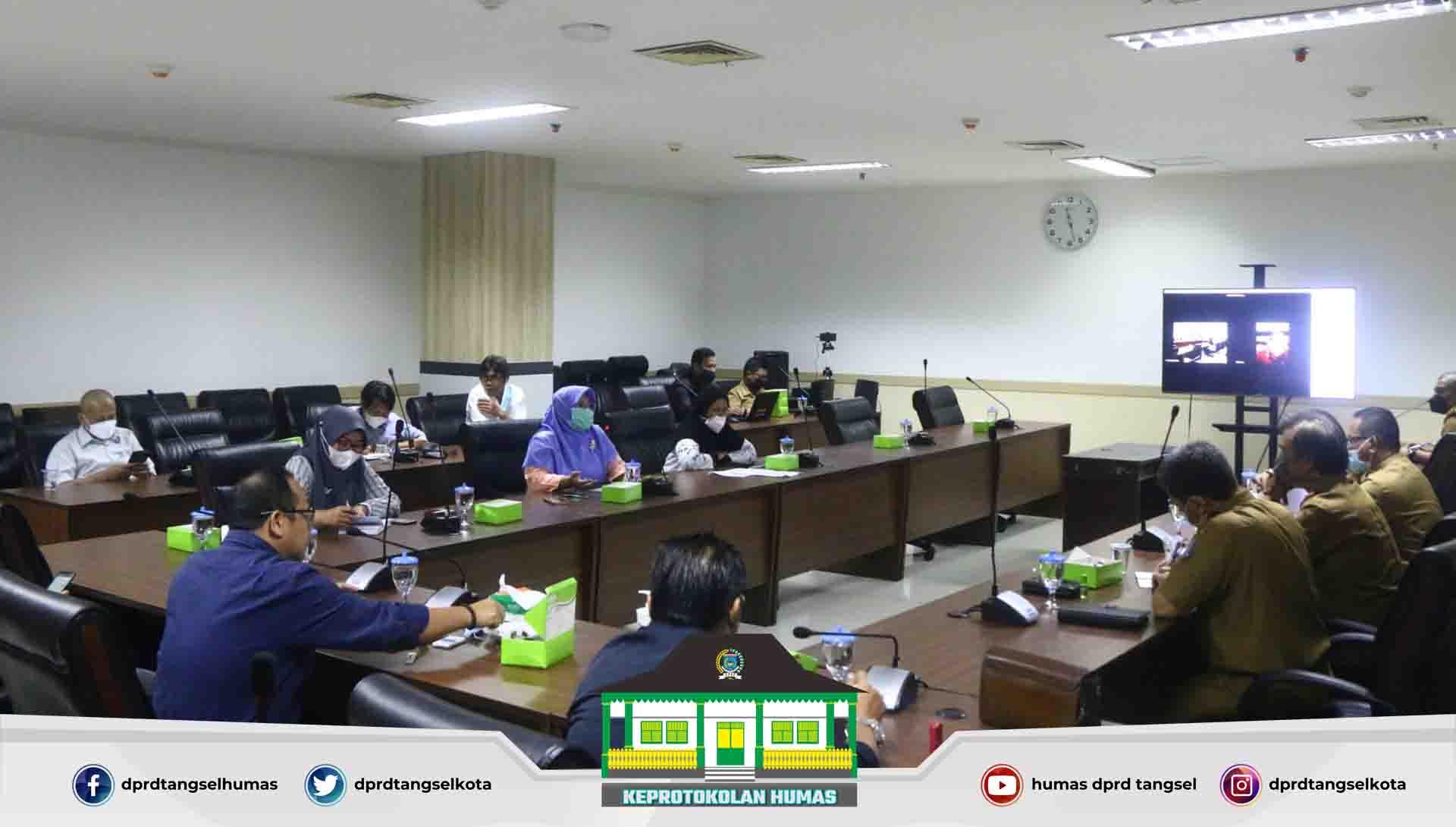 Rapat koordinasi dengan Pimpinan DPRD, Pimpinan Komisi dan Tenaga Ahli