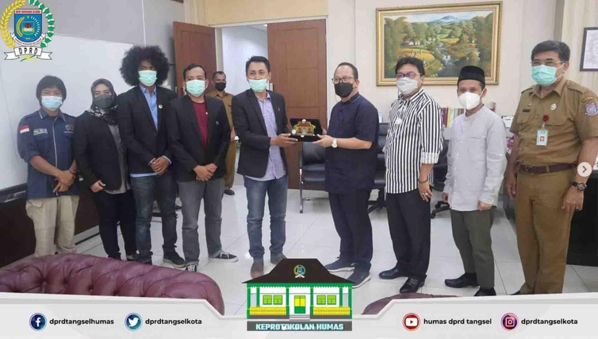 Pimpinan DPRD menerima Audiensi dari PWI Kota Tangerang Selatan