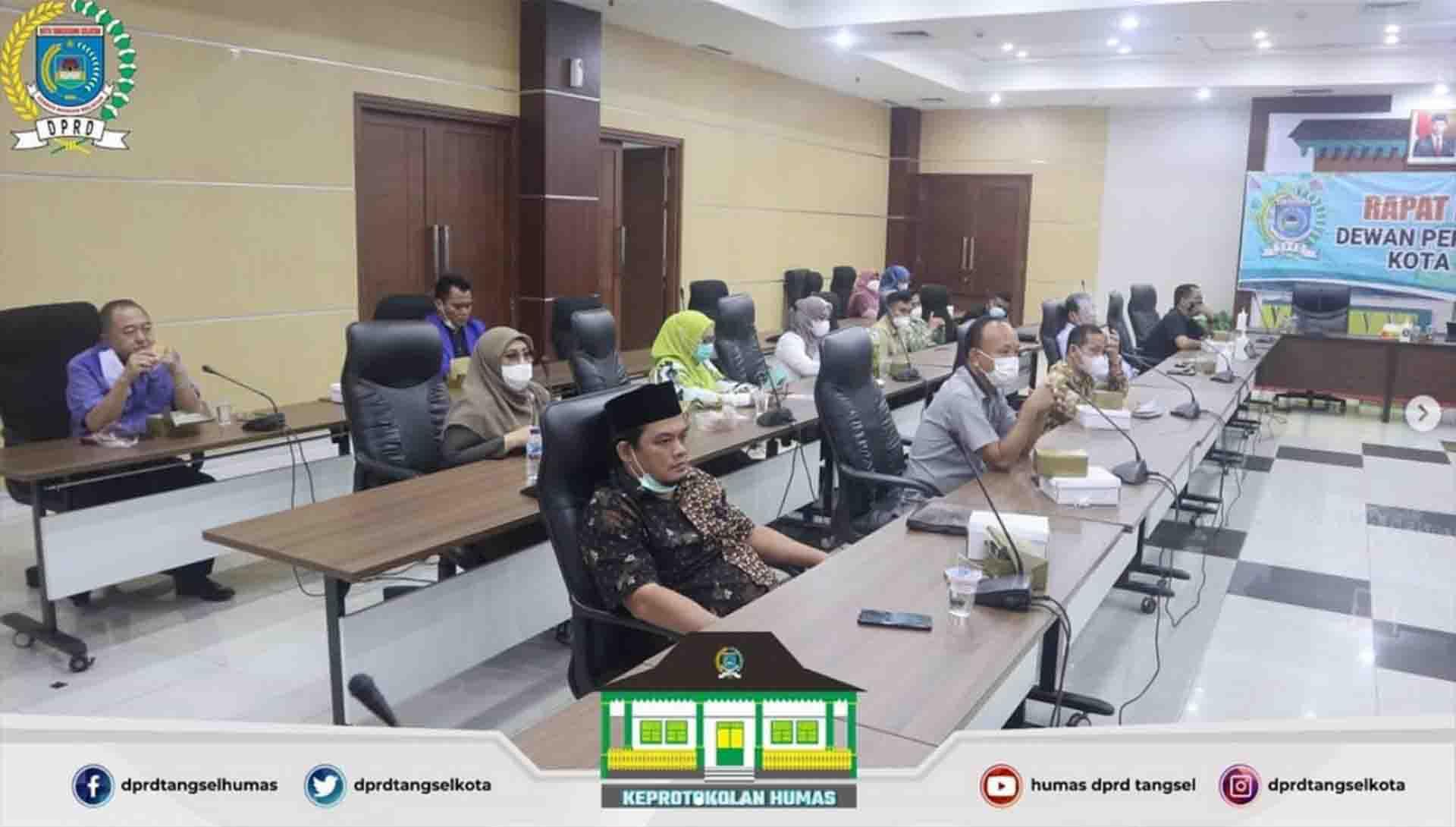 Rapat Badan Musyawarah DPRD Kota Tangerang Selatan