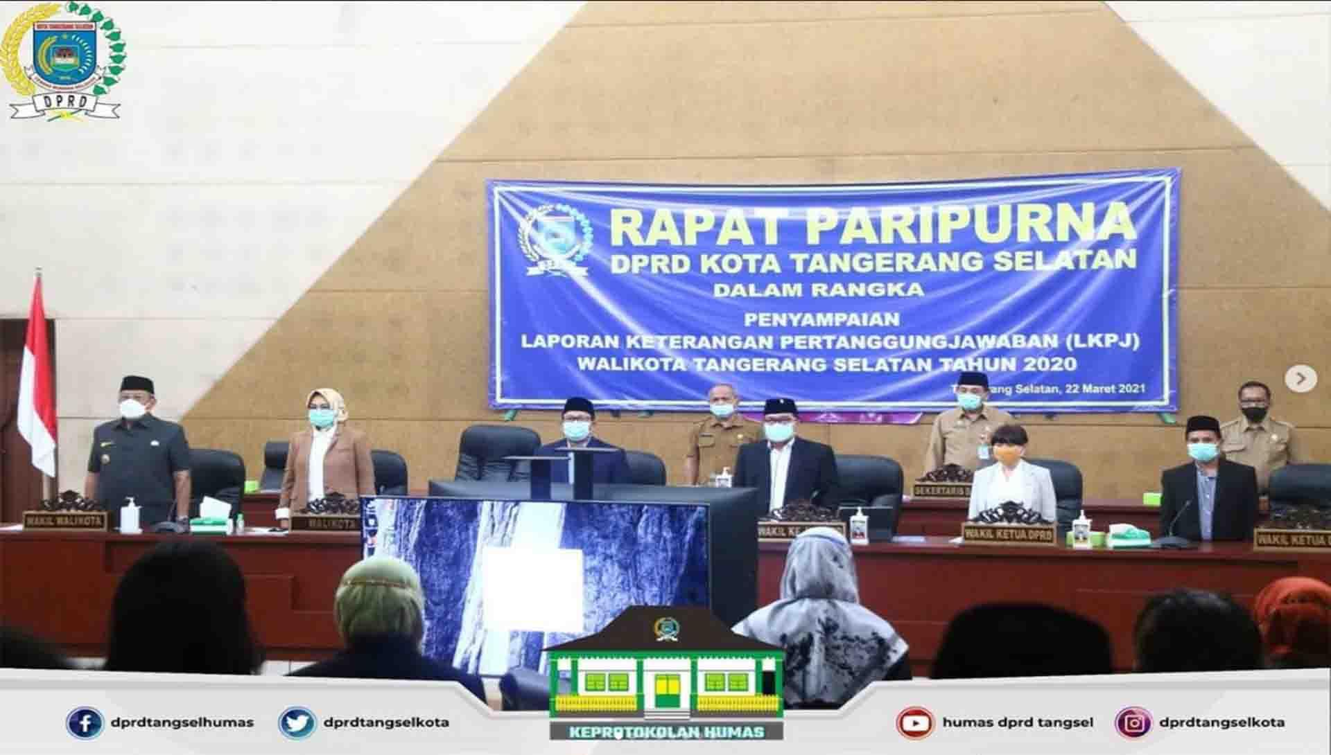 Rapat Paripurna Agenda LKPJ Walikota Tangerang Selatan Tahun 2020