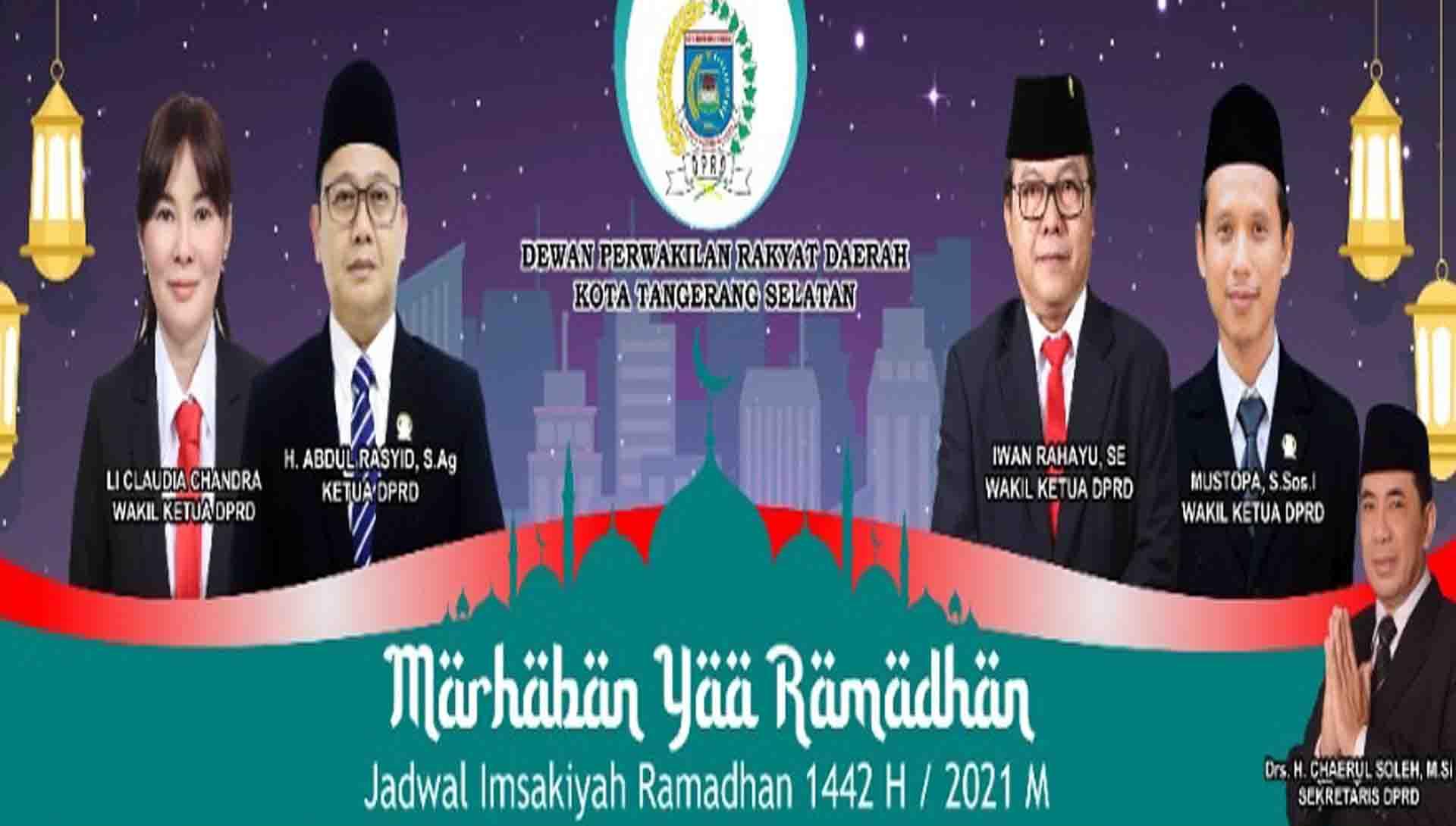 Jadwal Imsakiyah Ramadhan 1442 / 2021 M