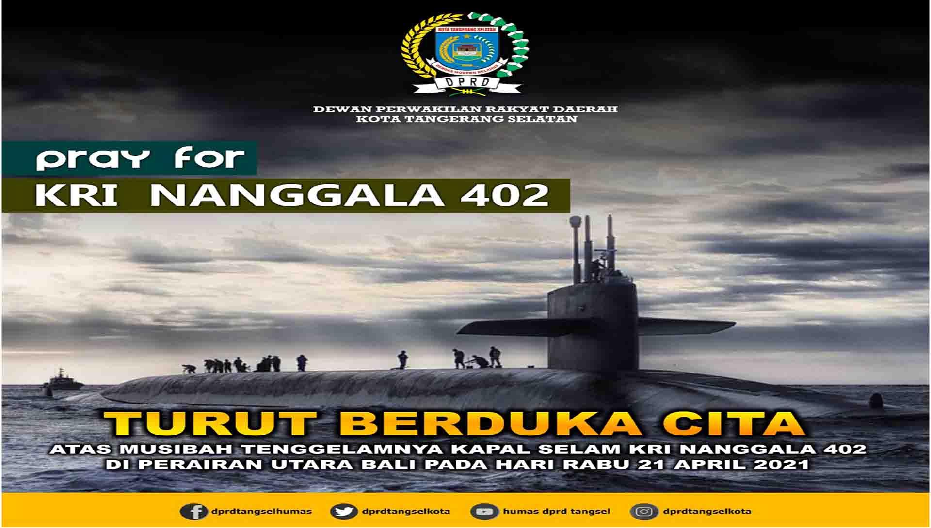 Turut berduka cita musibah tenggelamnya Kapal Selam KRI Nanggala 402
