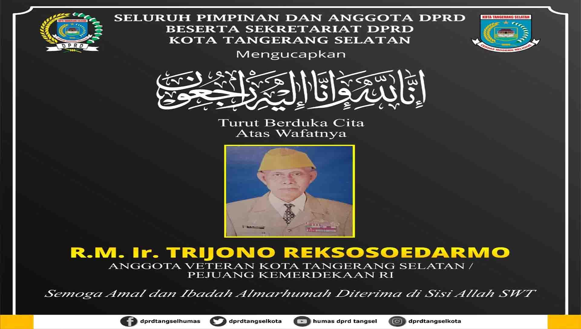 Turut Berduka Cita atas Wafatnya R.M. Ir. Trijono Reksosoedarmo