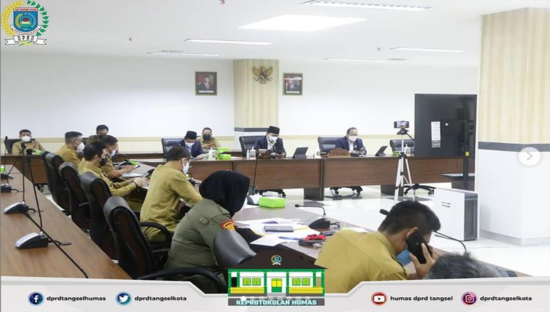 Rapat Pimpinan DPRD Perihal Penangan Covid-19 di Kota Tangsel