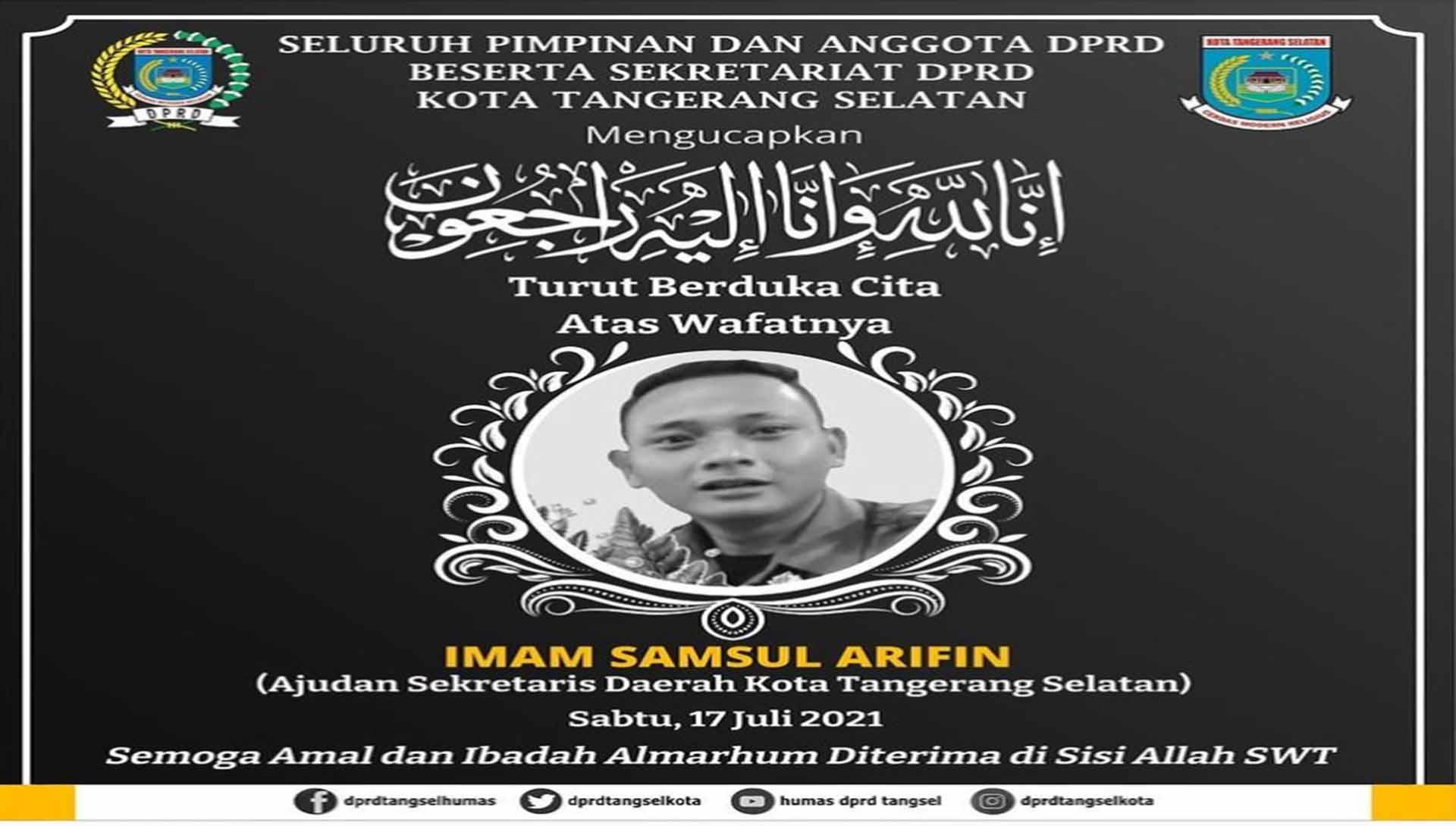 Turut Berduka Cita atas Wafatnya Imam Samsul Arifin