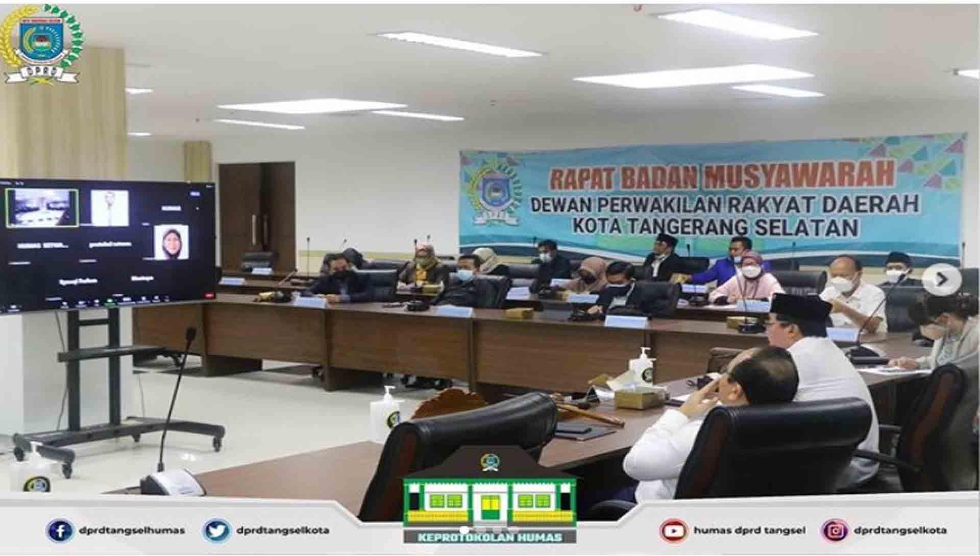 Rapat Badan Musyawarah Penyampaian KUPA PPAS Perubahan Tahun 2021