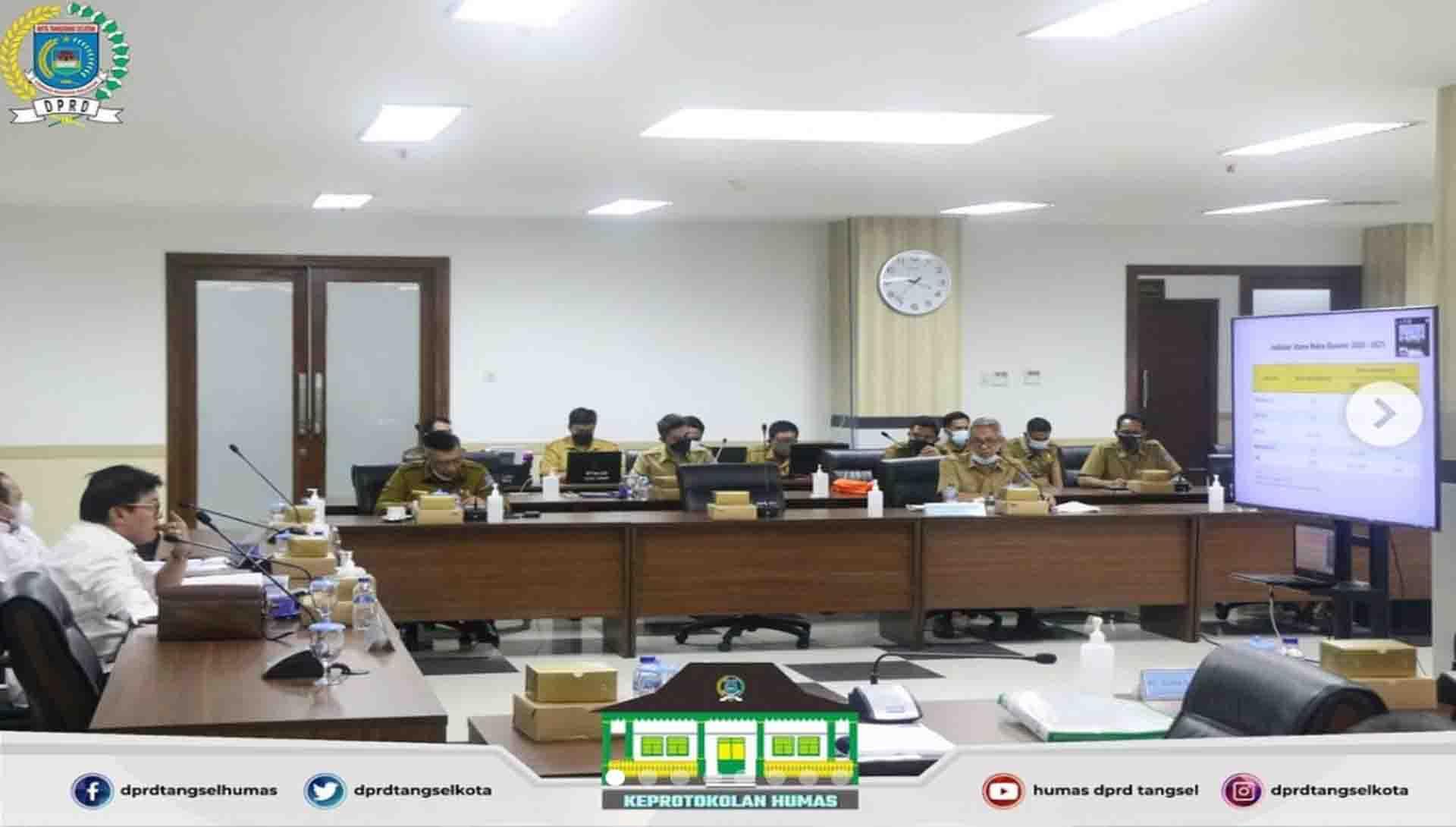 Badan Anggaran Gelar Rapat Pembahasan Rancangan Perubahan KUA TA. 2021