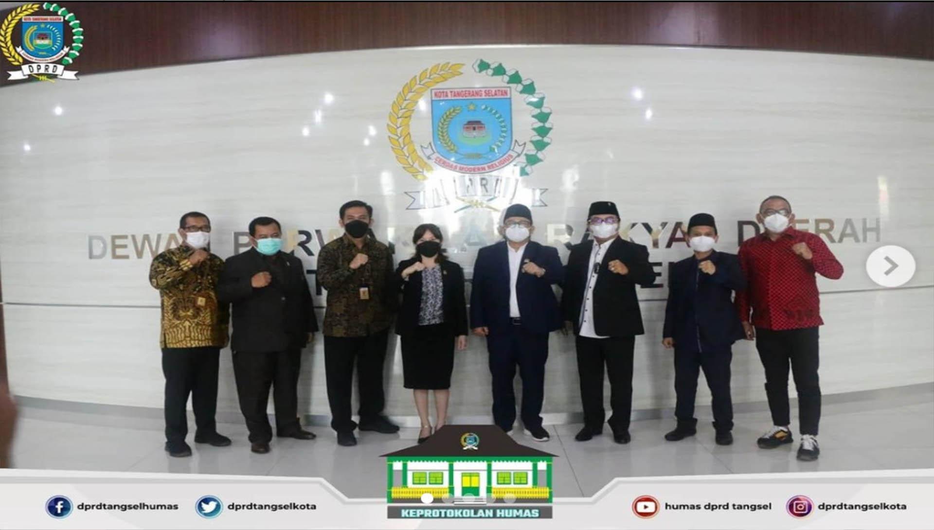 Pimpinan dan Anggota DPRD menerima Audiensi dari BPN Tangsel