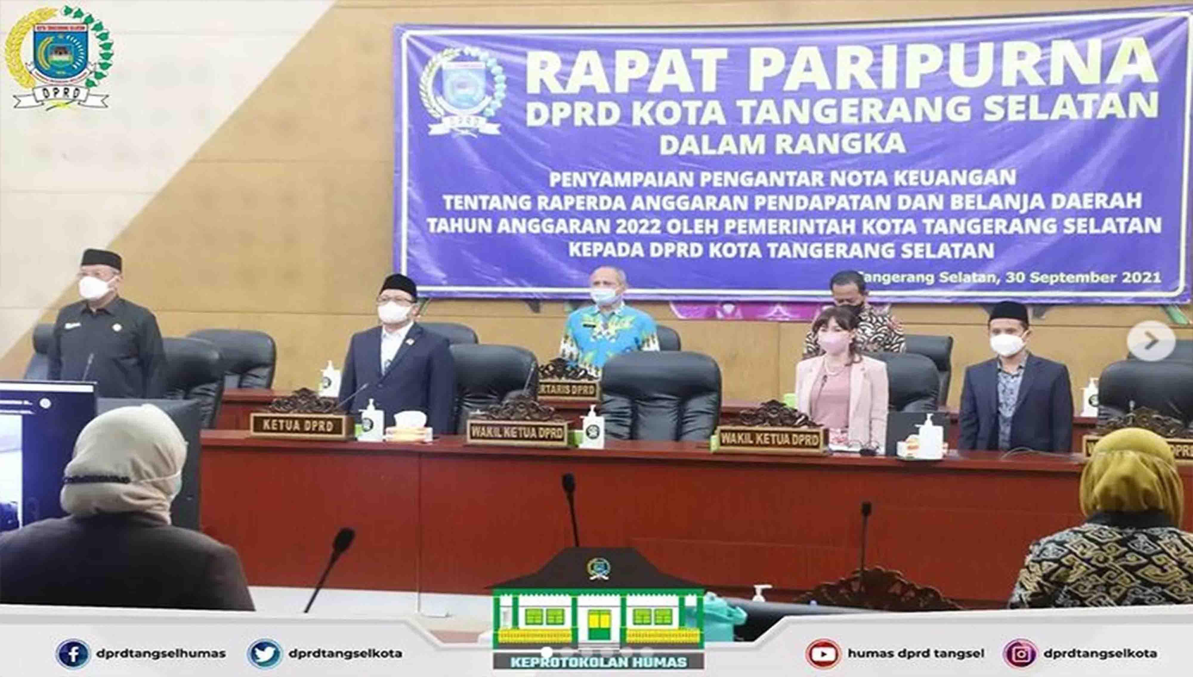 DPRD Kota Tangerang Selatan menggelar 2 (dua) Agenda Rapat Paripurna