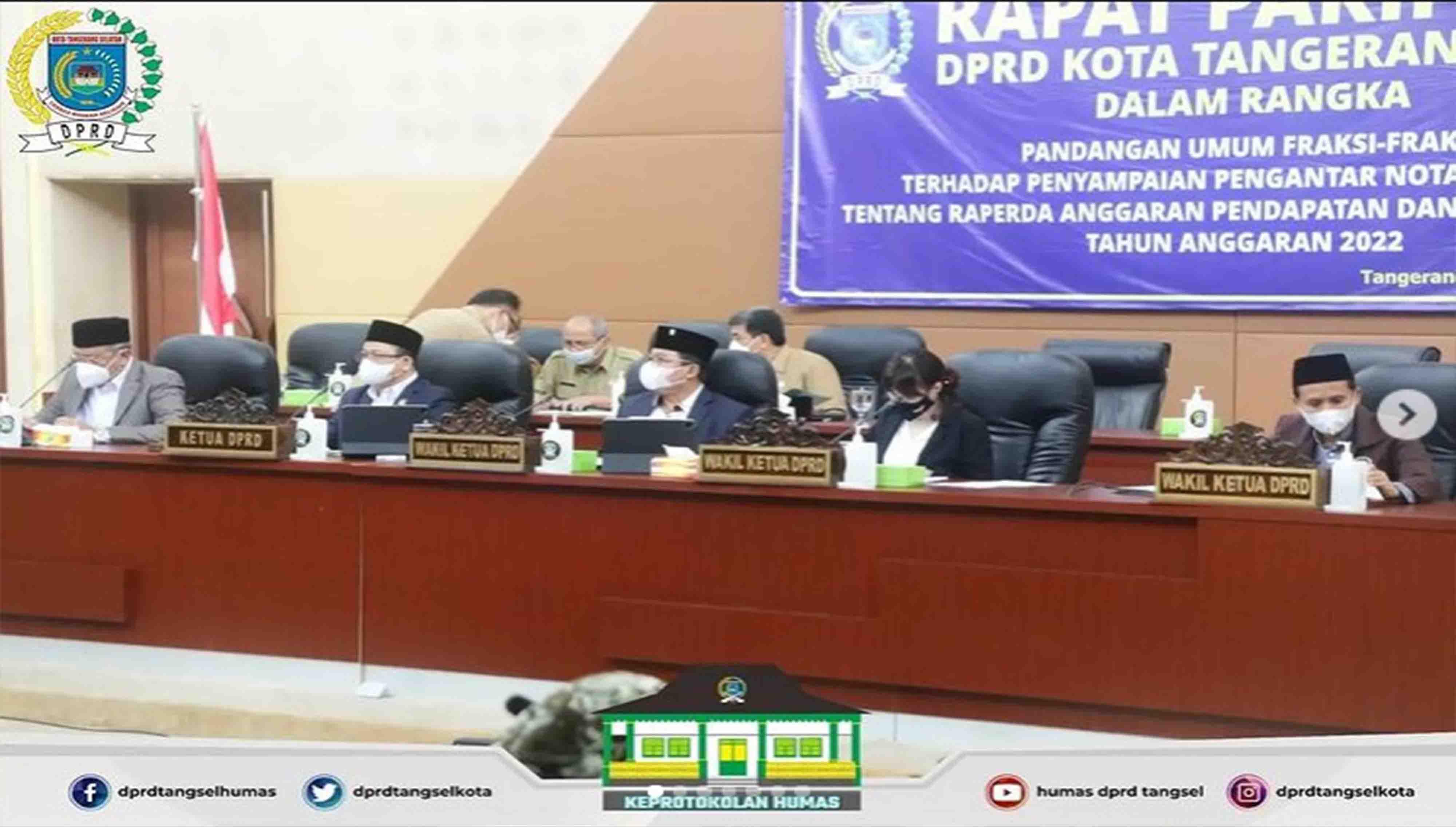 DPRD Tangsel menggelar 2 (dua) agenda Rapat Paripurna