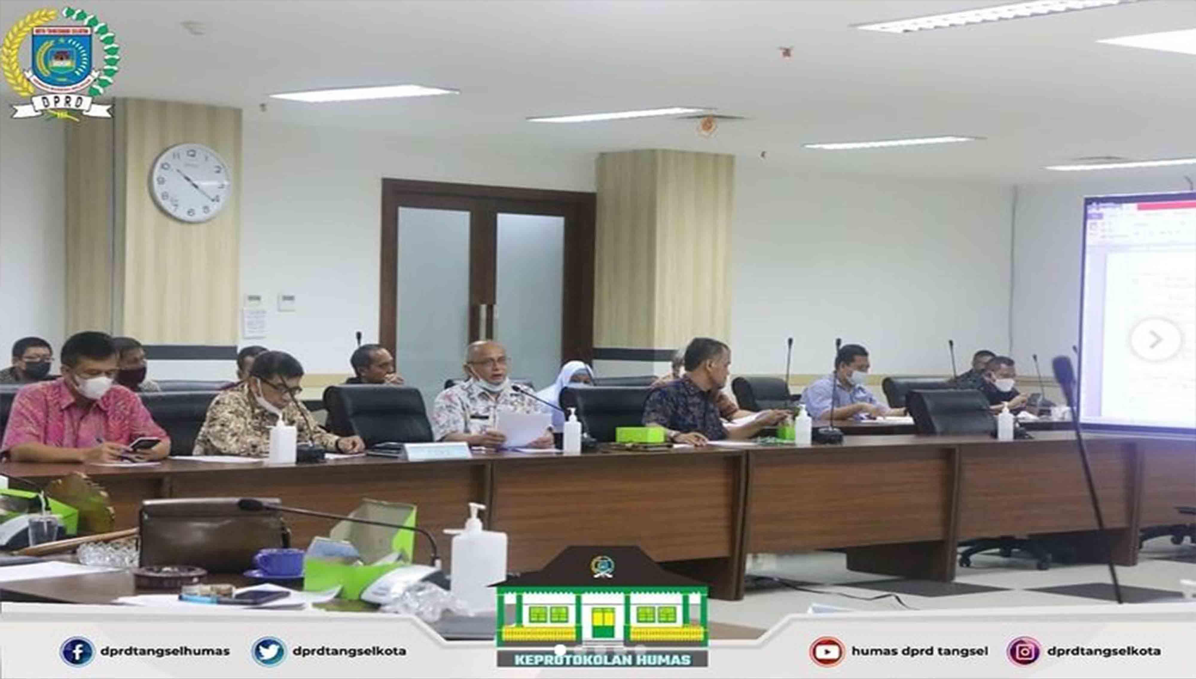 Rapat Badan Musyawarah Penjadwalan Kegiatan Alat Kelengkapan DPRD