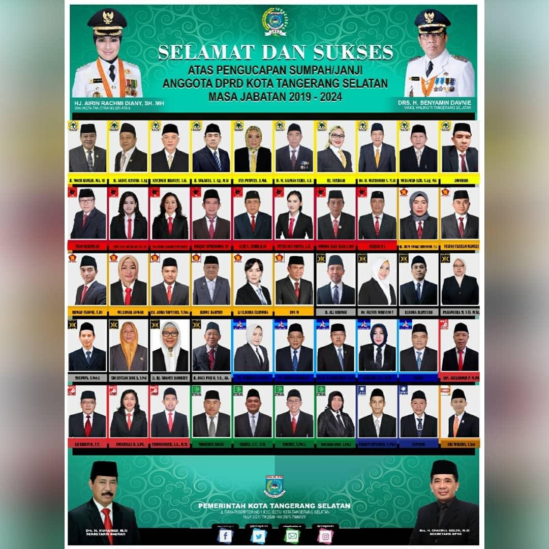 Pengucapan Sumpah / Janji Anggota DPRD Kota Tangerang Selatan Masa Jab