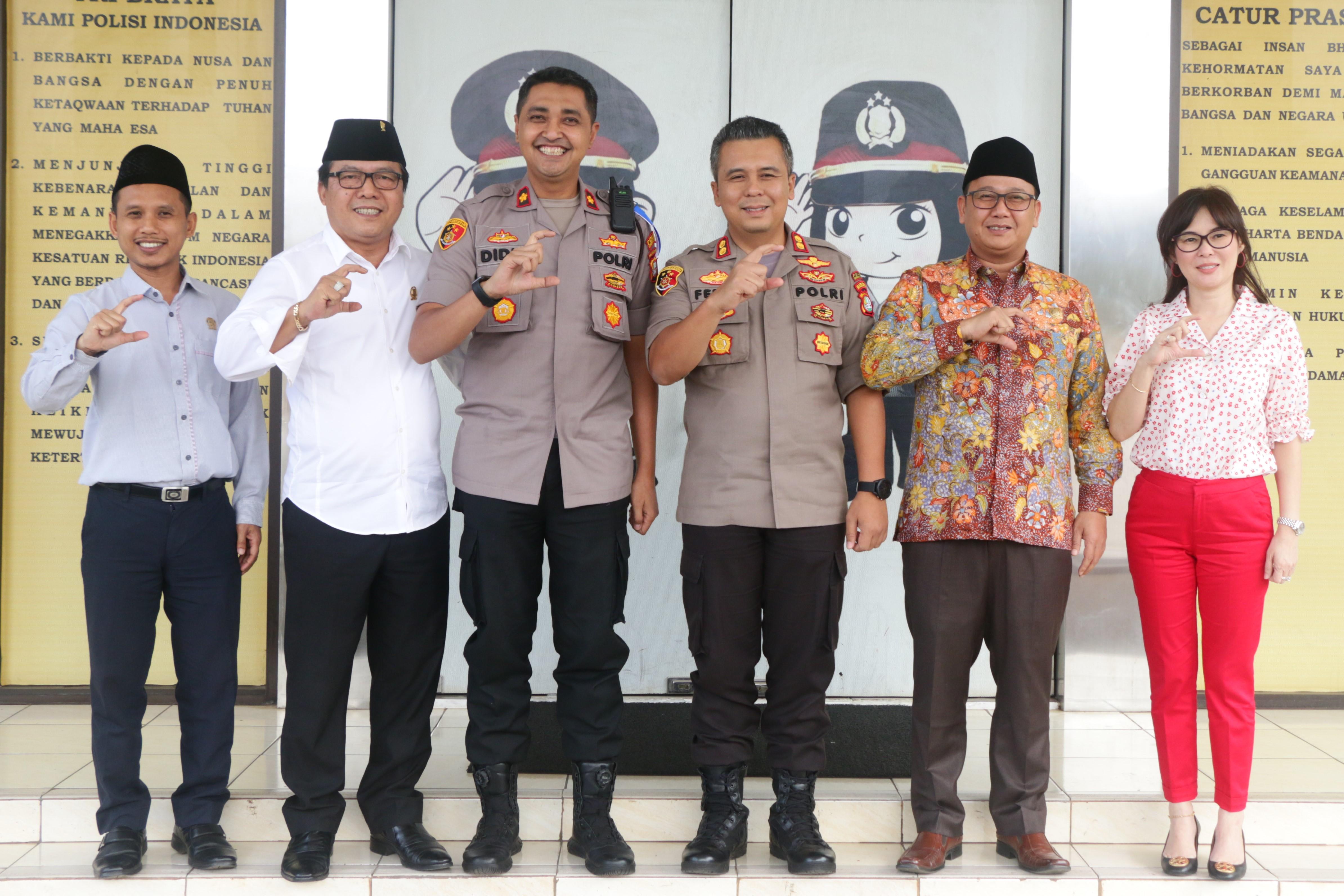 Pimpinan DPRD Silaturahmi Ke Polres Kota Tangerang Selatan