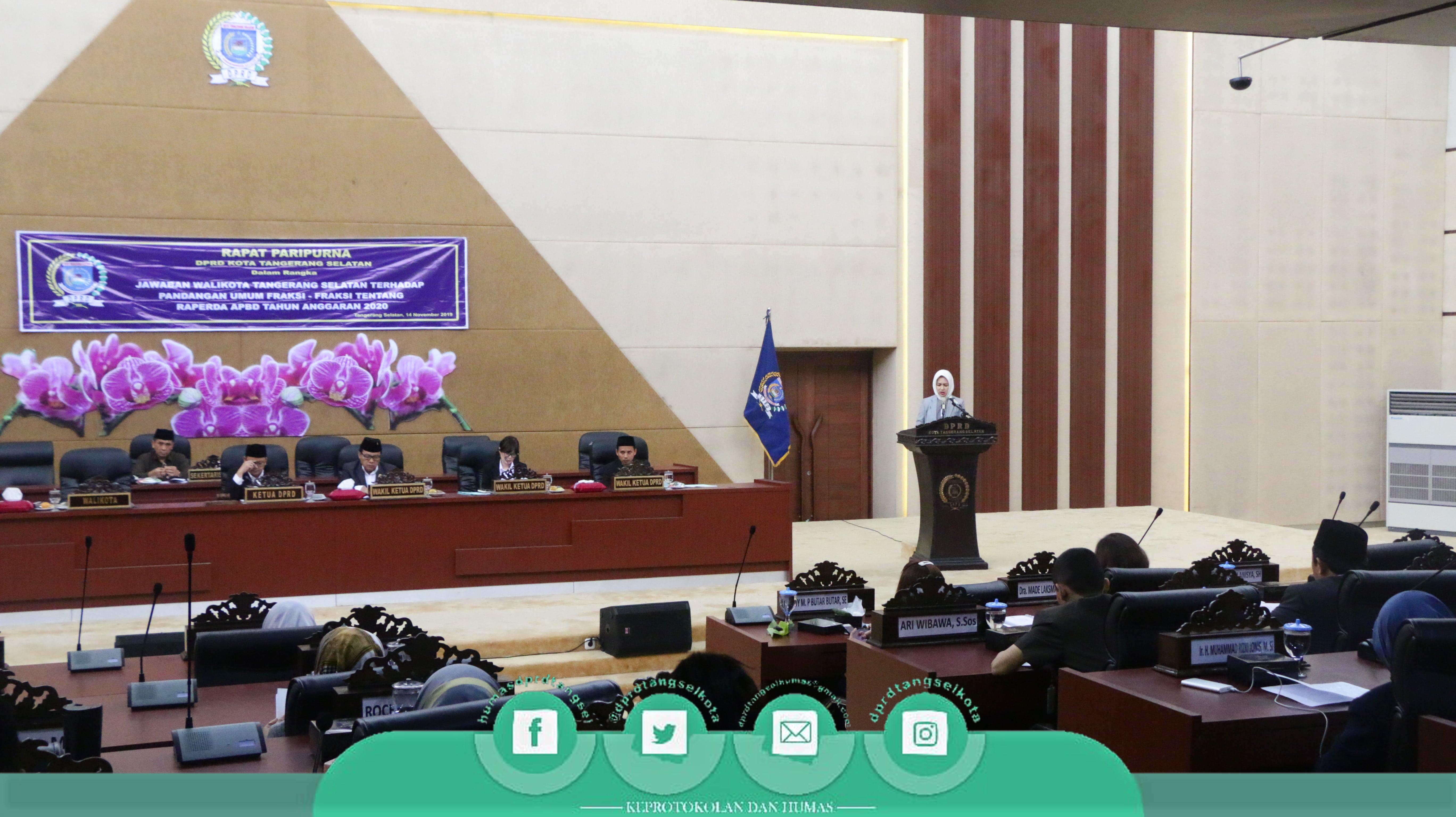 Rapat Paripurna Jawaban Walikota Terhadap Pandangan Umum Fraksi