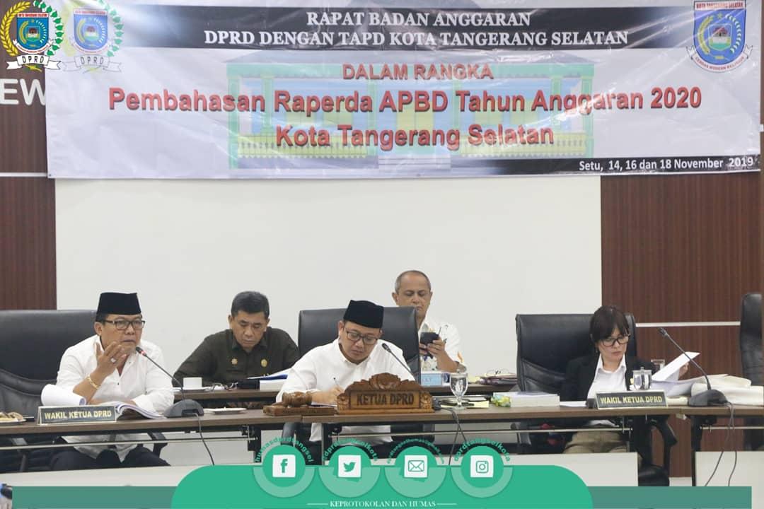 Rapat Badan Anggaran Pembahasan Raperda APBD Tahun Anggaran 2020