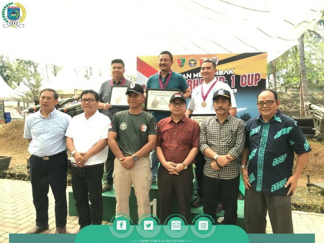 Pimpinan DPRD Tangsel Menghadiri Kejuaraan Menembak Danyon Arhanud
