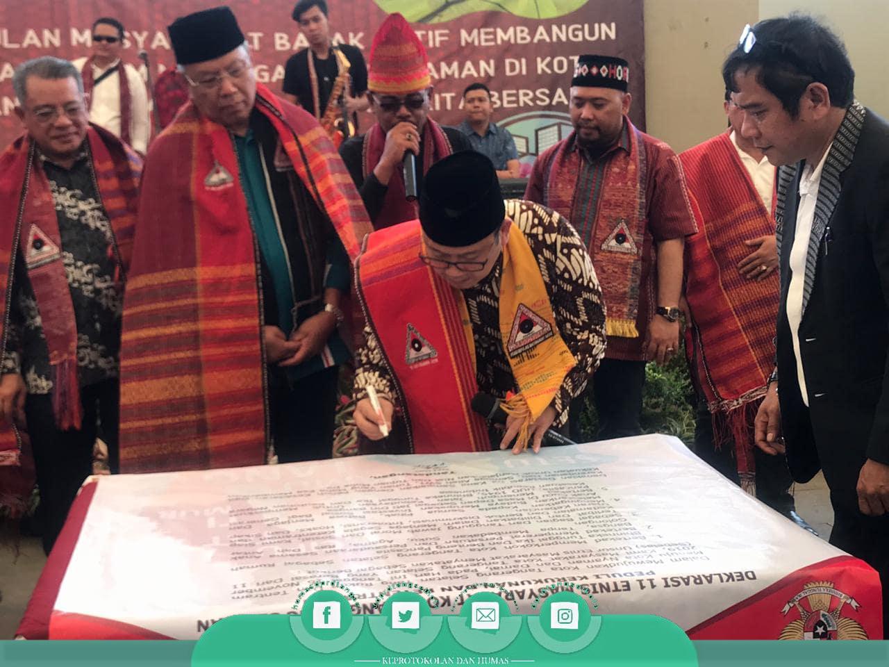 Pimpinan DPRD Tangsel hadir dalam Pagelaran Budaya Batak 2019