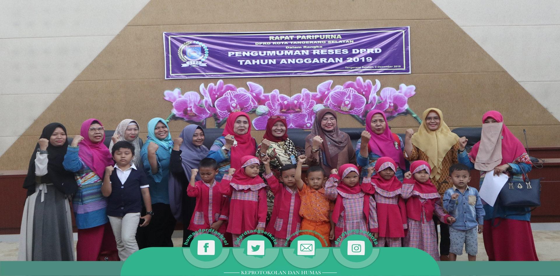 DPRD Tangsel Terima Kunjungan PAUD Kasih Ibu