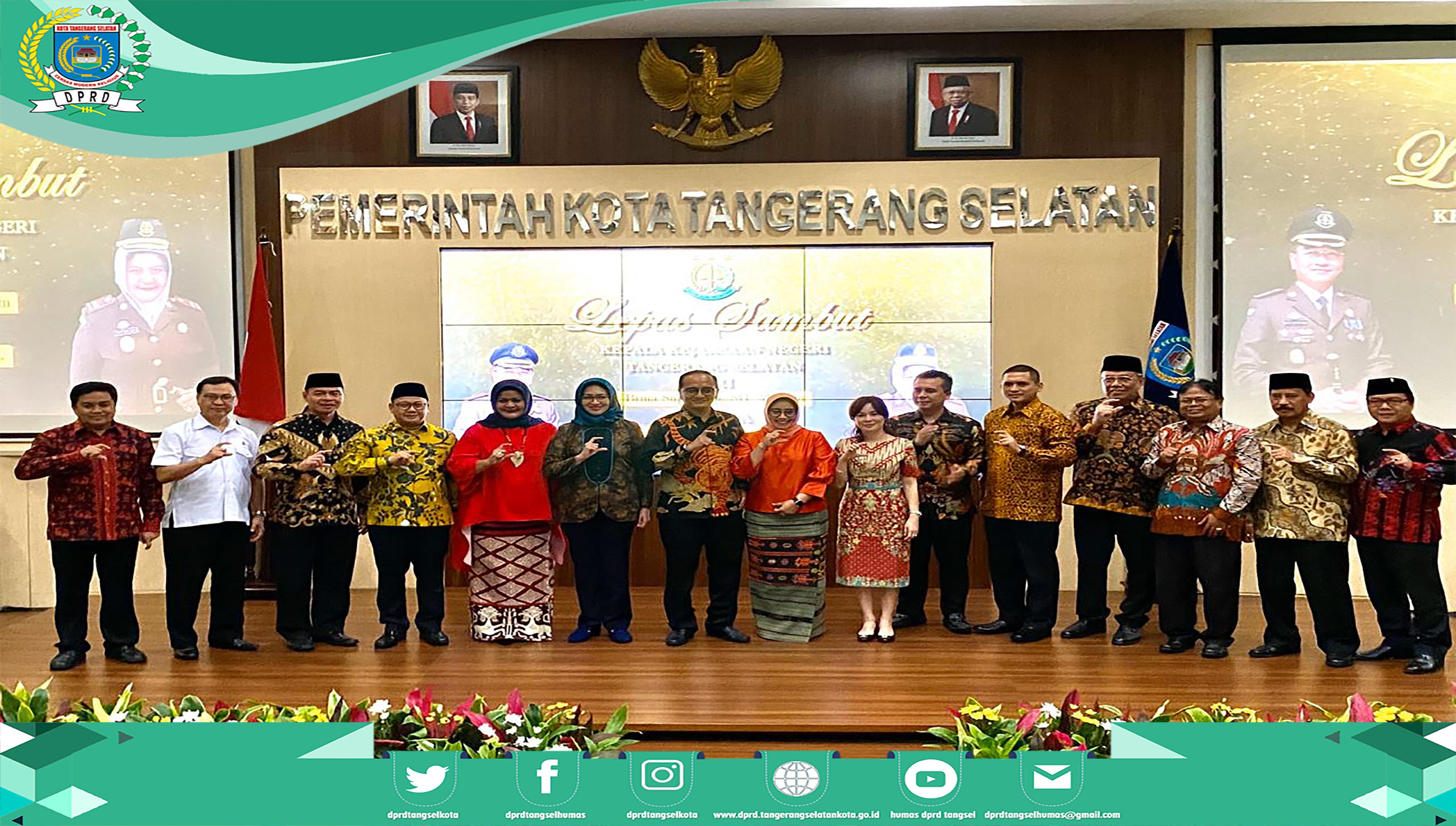 Pimpinan DPRD hadiri Lepas Sambut Kajari Kota Tangerang Selatan