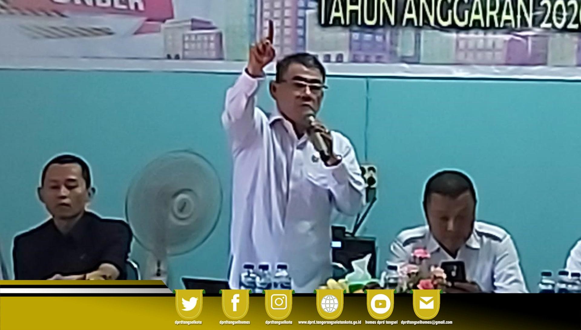 Ketua Komisi II Menjadi Narasumber Musrembang Kel. Sawah Baru Th. 2020