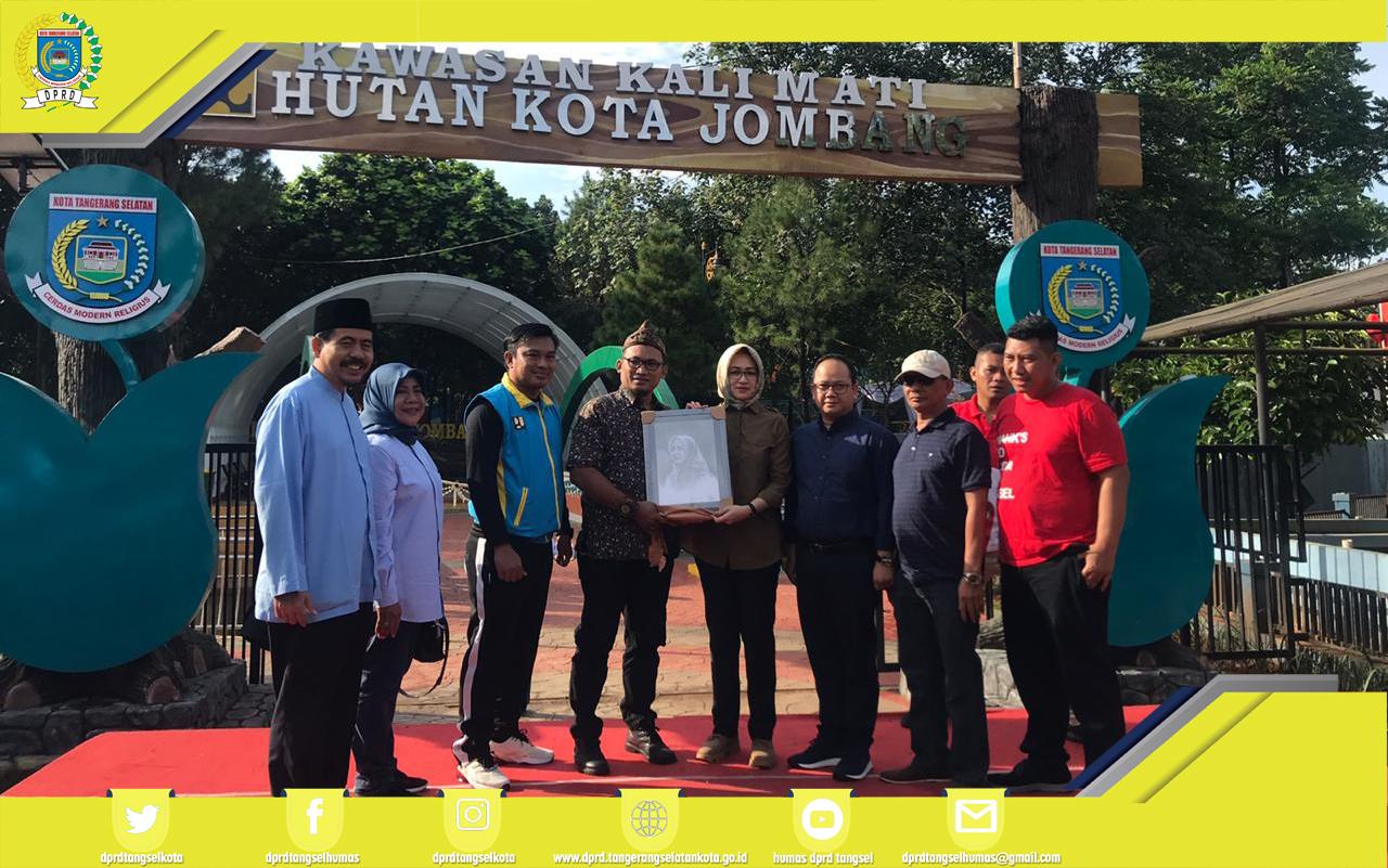 Ketua DPRD menghadiri Peresmian Kawasan Kali Mati Hutan Kota Jombang