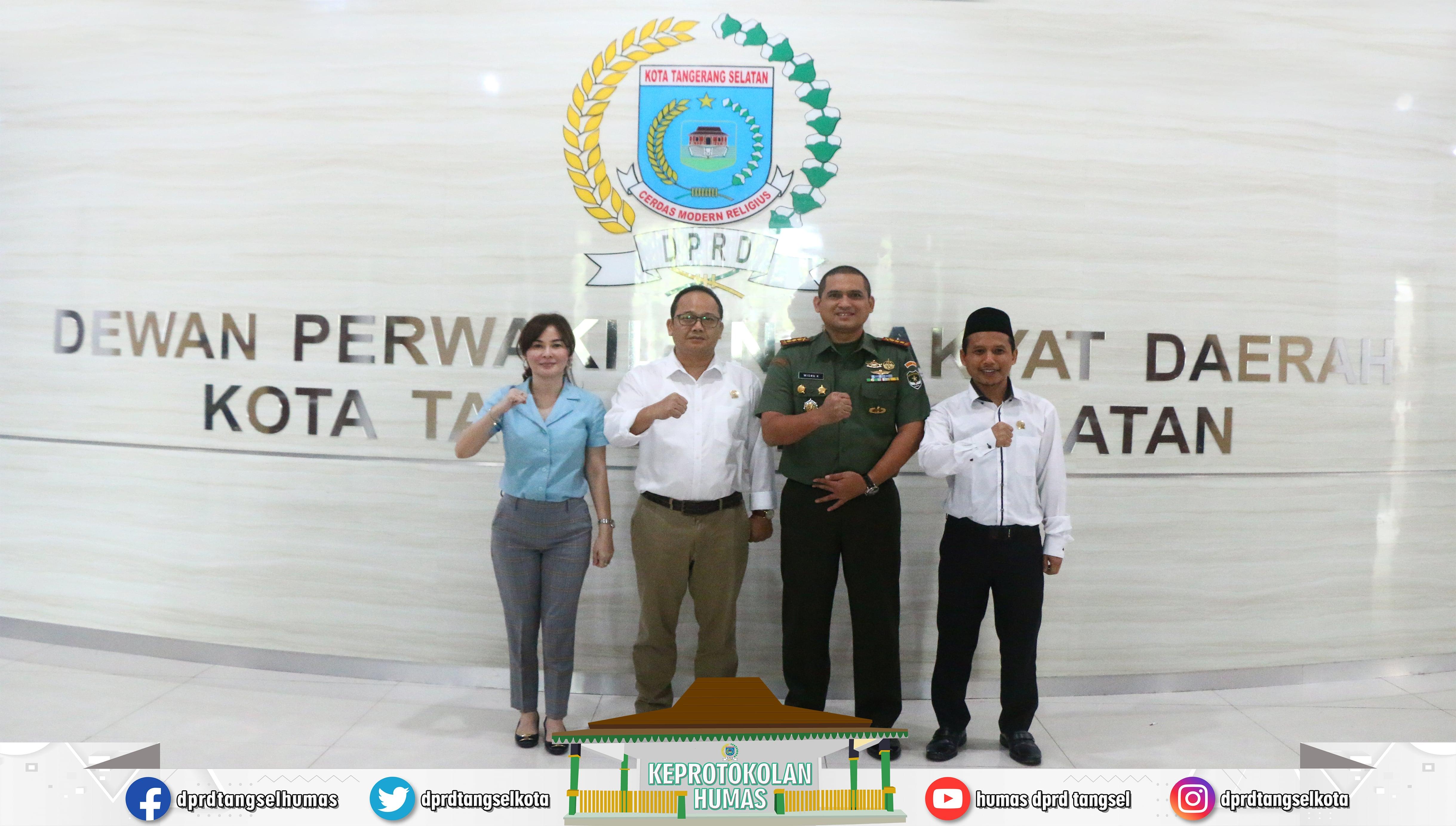 Dandim 0506 Tangerang Silaturahmi ke Pimpinan DPRD Tangsel