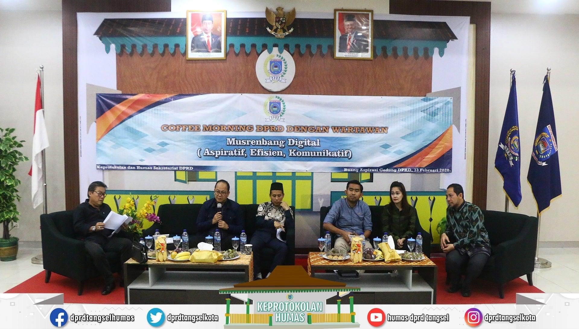 Coffee Morning Perdana DPRD dengan Wartawan Tahun 2020