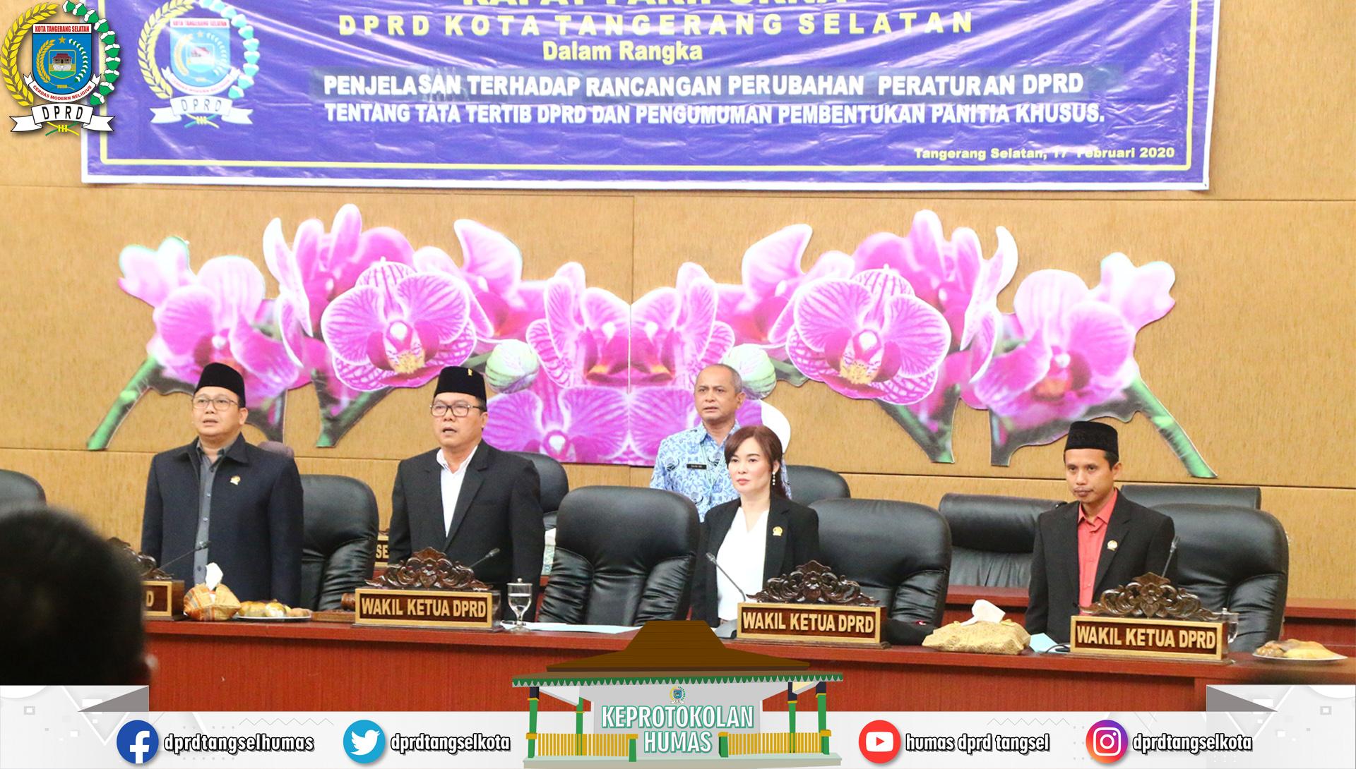 DPRD Kota Tangerang Selatan gelar Rapat Paripurna dengan 2 Agenda