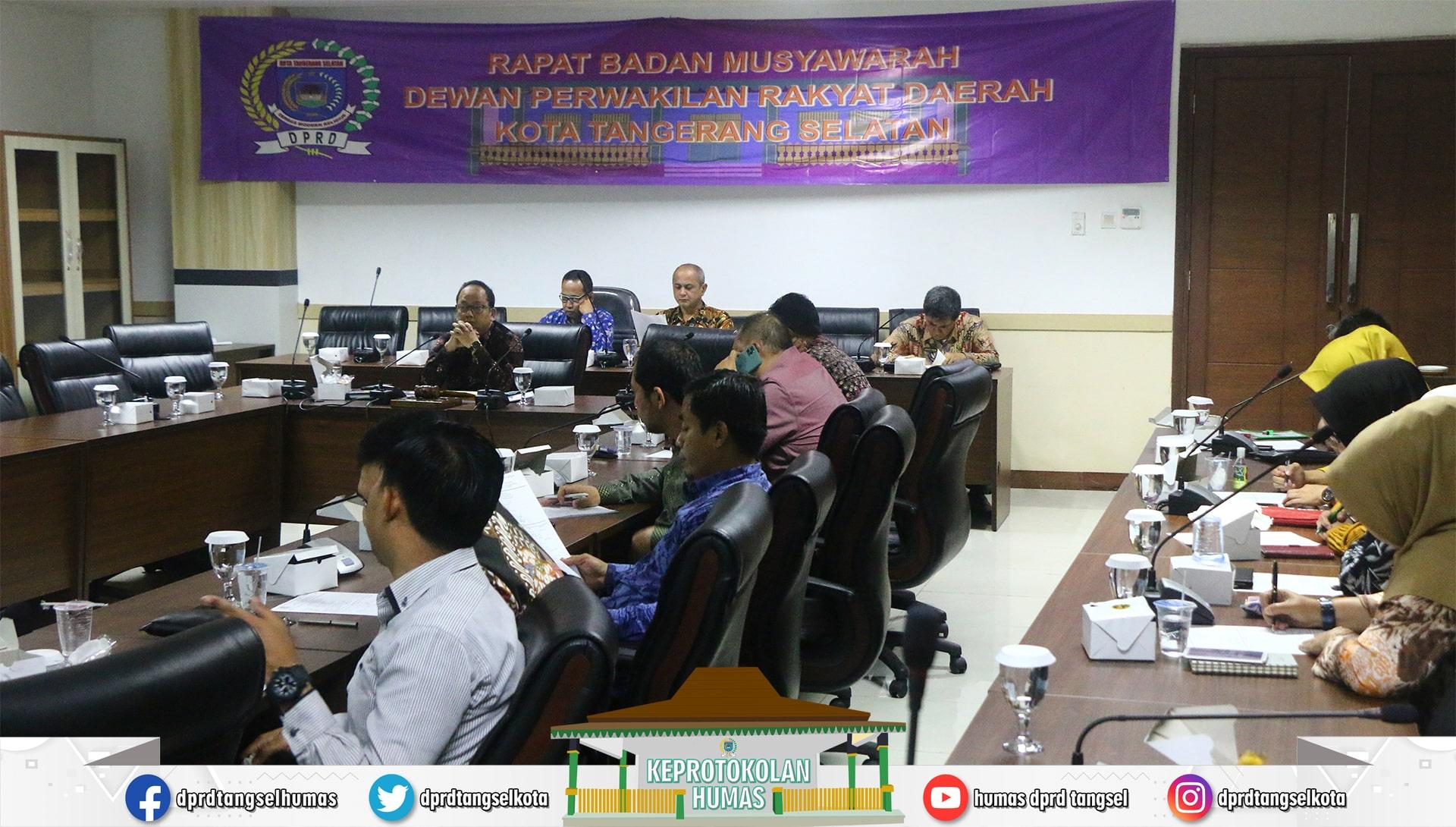 DPRD Tangsel laksanakan Rapat Badan Musyawarah