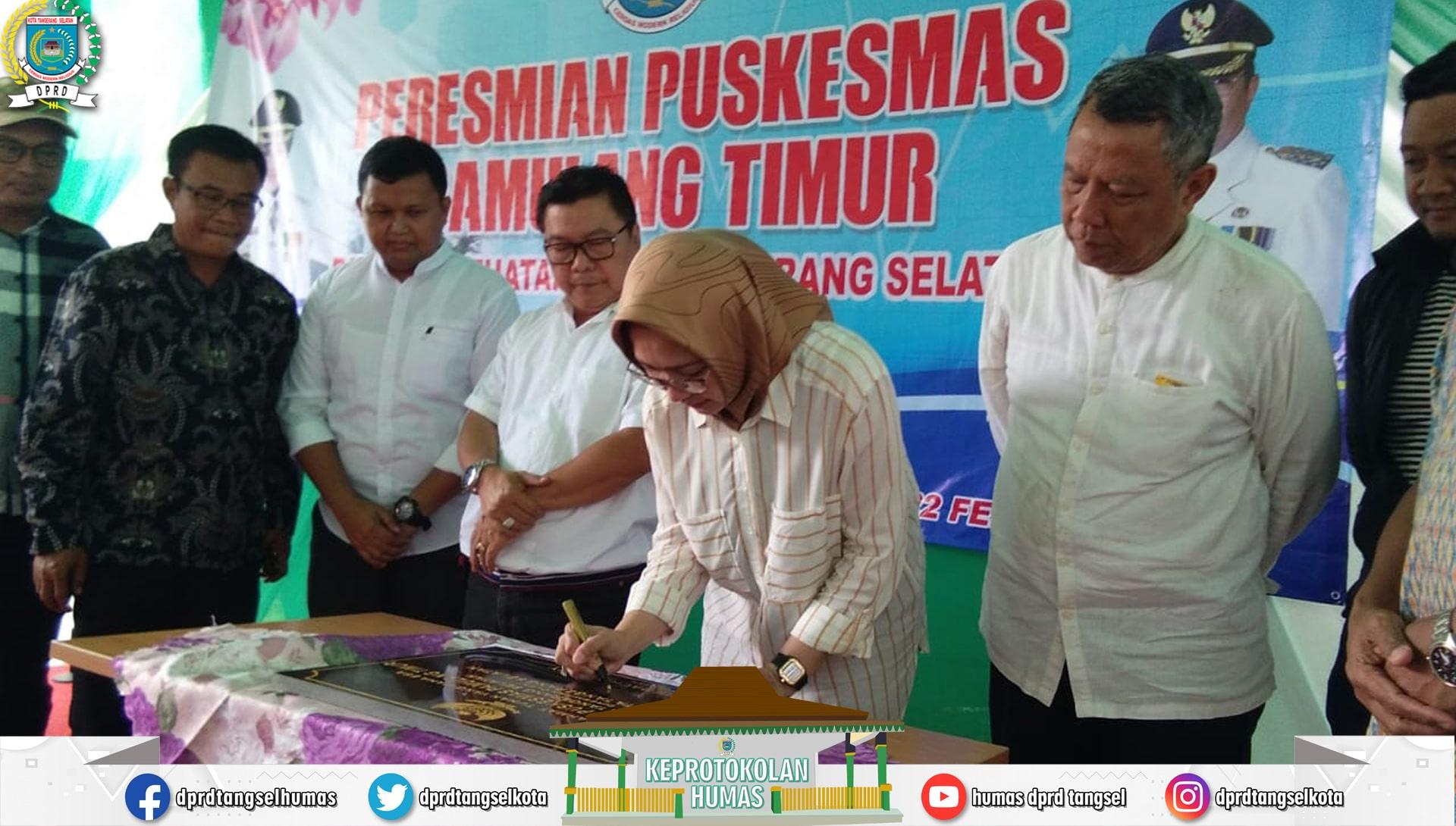 Wakil Ketua DPRD Tangsel menghadiri Peresmian Puskesmas Pamulang Timur